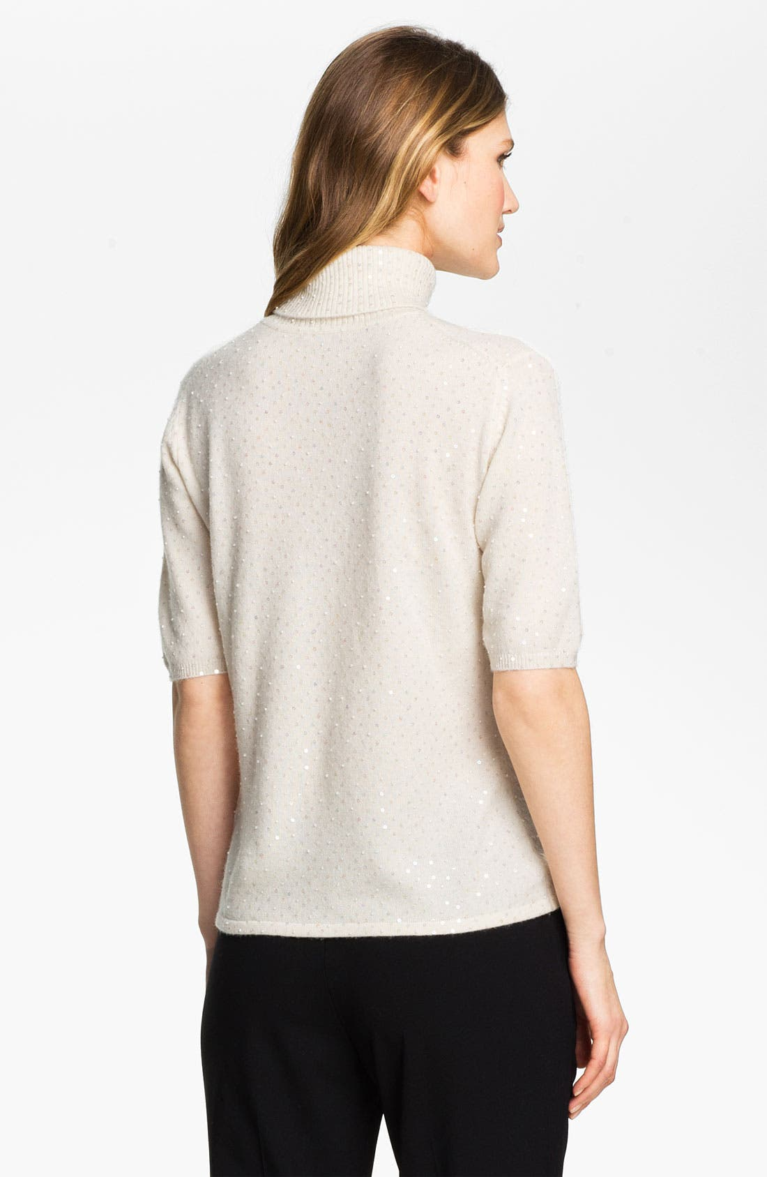 Alternate Image 2  - Pure Amici Embellished Cashmere Turtleneck Sweater