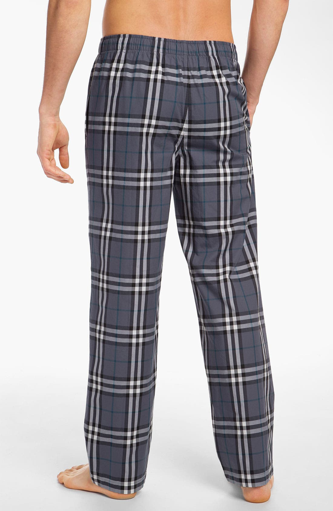 Alternate Image 2  - Burberry Check Cotton Pajama Pants