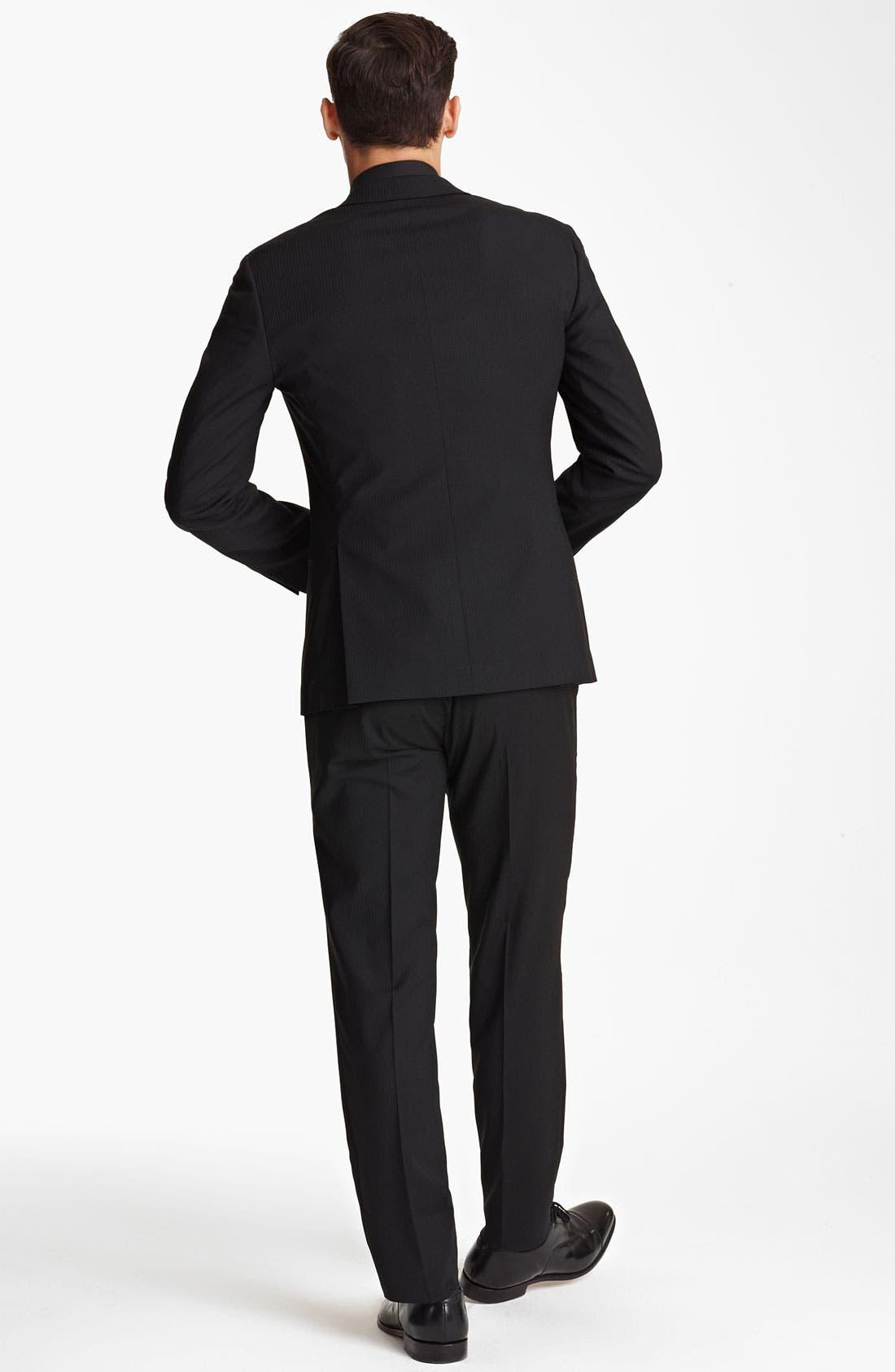 Alternate Image 3  - Dolce&Gabbana Tonal Stripe Suit