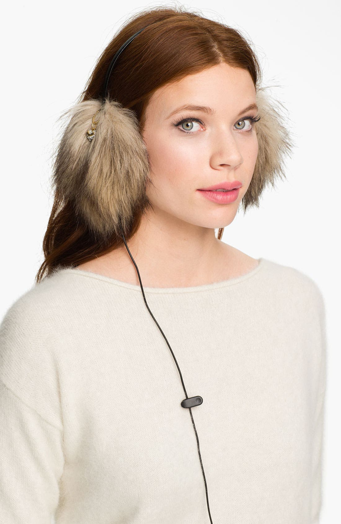 Main Image - Juicy Couture Faux Fur Headphone Earmuffs