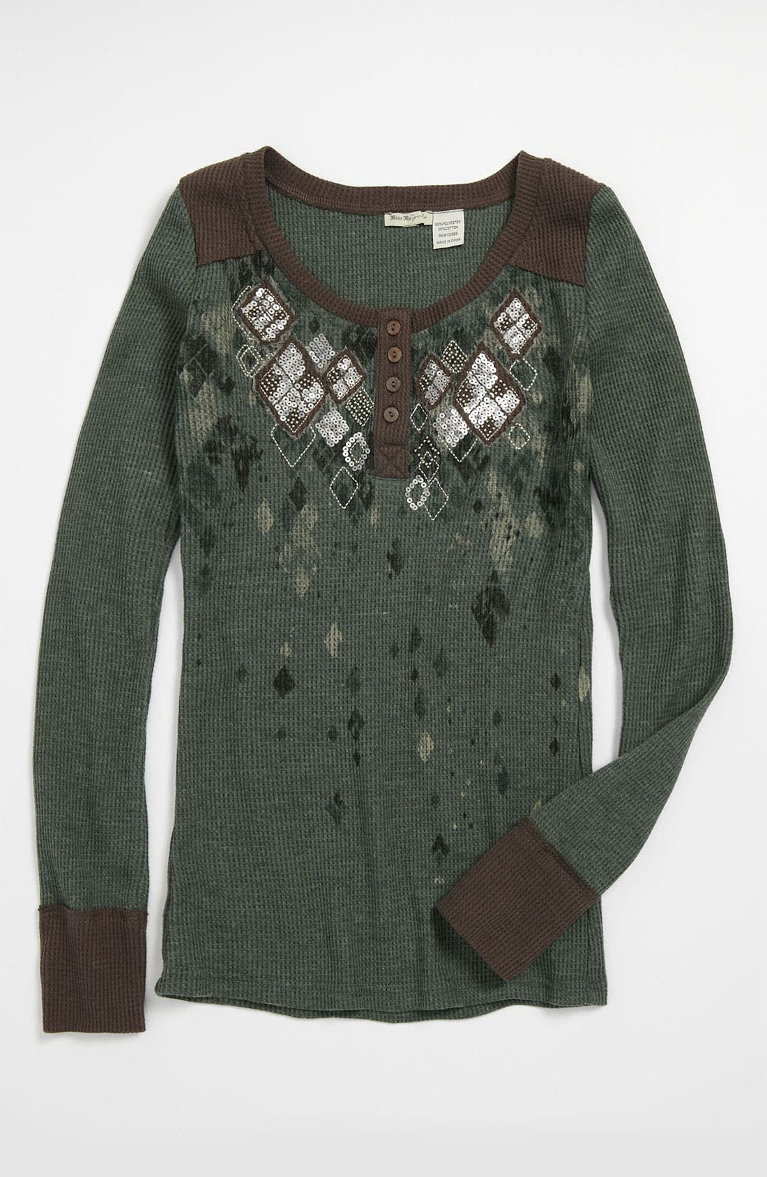 Main Image - Miss Me Embellished Top (Big Girls)