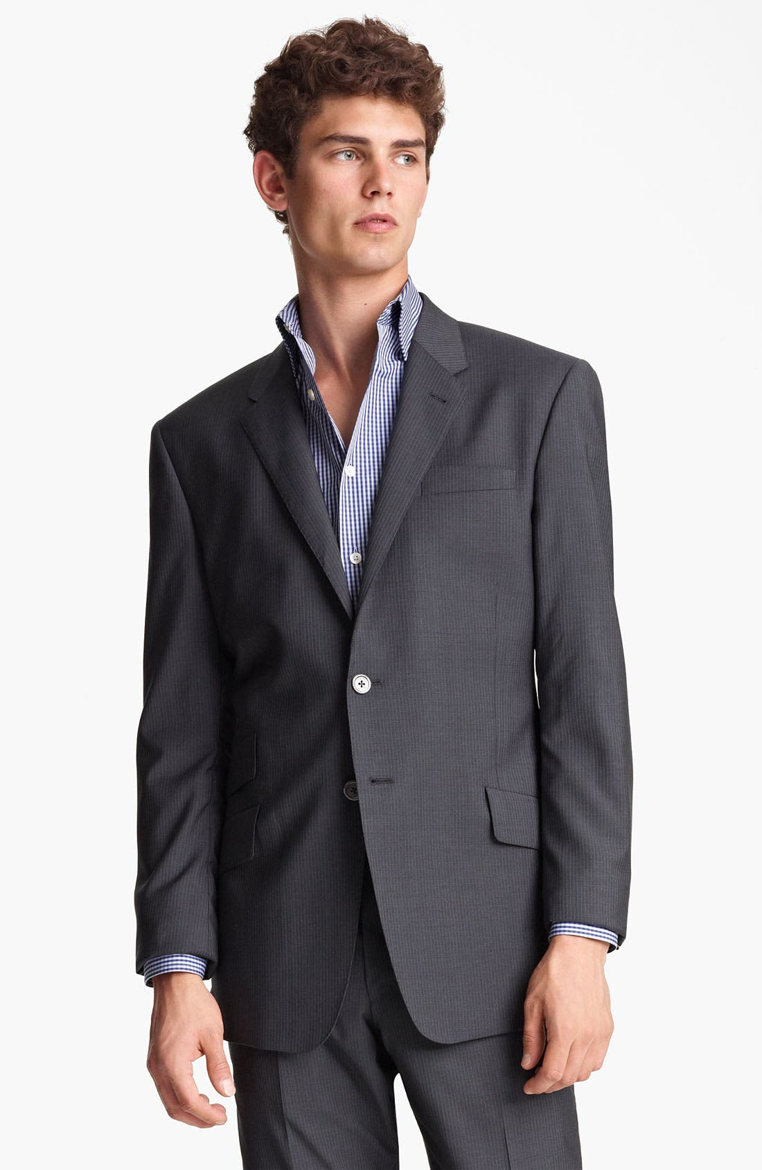 Alternate Image 1 Selected - Paul Smith London Slim Fit Chalk Stripe Wool Suit