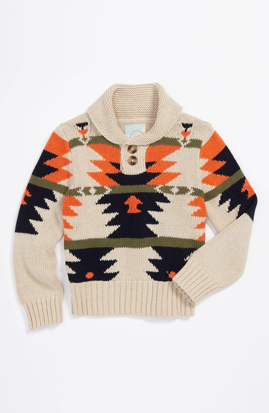 Alternate Image 1 Selected - Peek 'Arroyo' Shawl Collar Sweater (Infant)