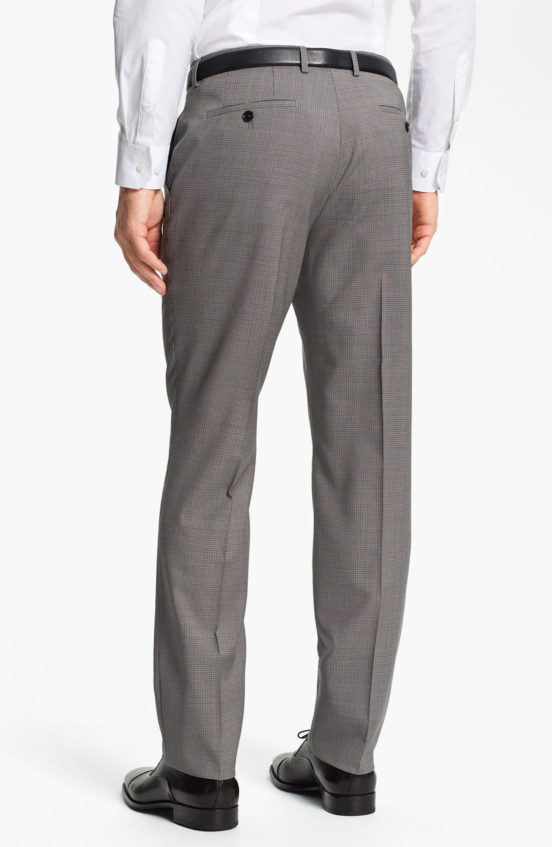 Alternate Image 2  - BOSS Black 'Sharp' Flat Front Wool Trousers