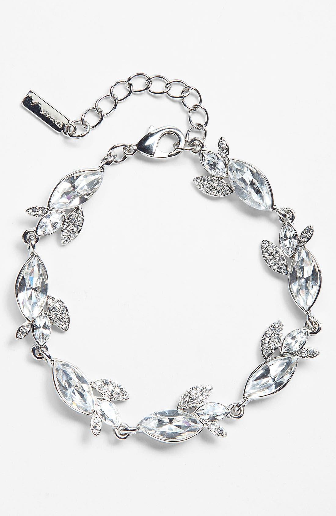 Alternate Image 1 Selected - Nina 'Hollyn' Pavé Leaf Bracelet