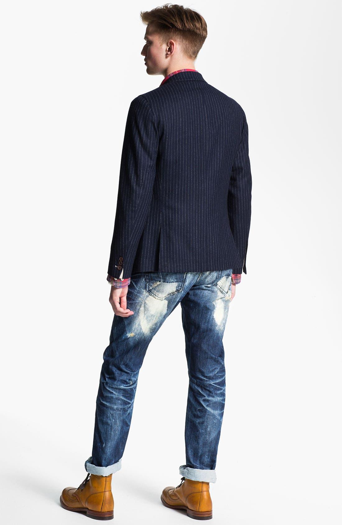 Alternate Image 6  - PRPS 'Valley of Silence Barracuda' Straight Leg Jeans (Indigo)