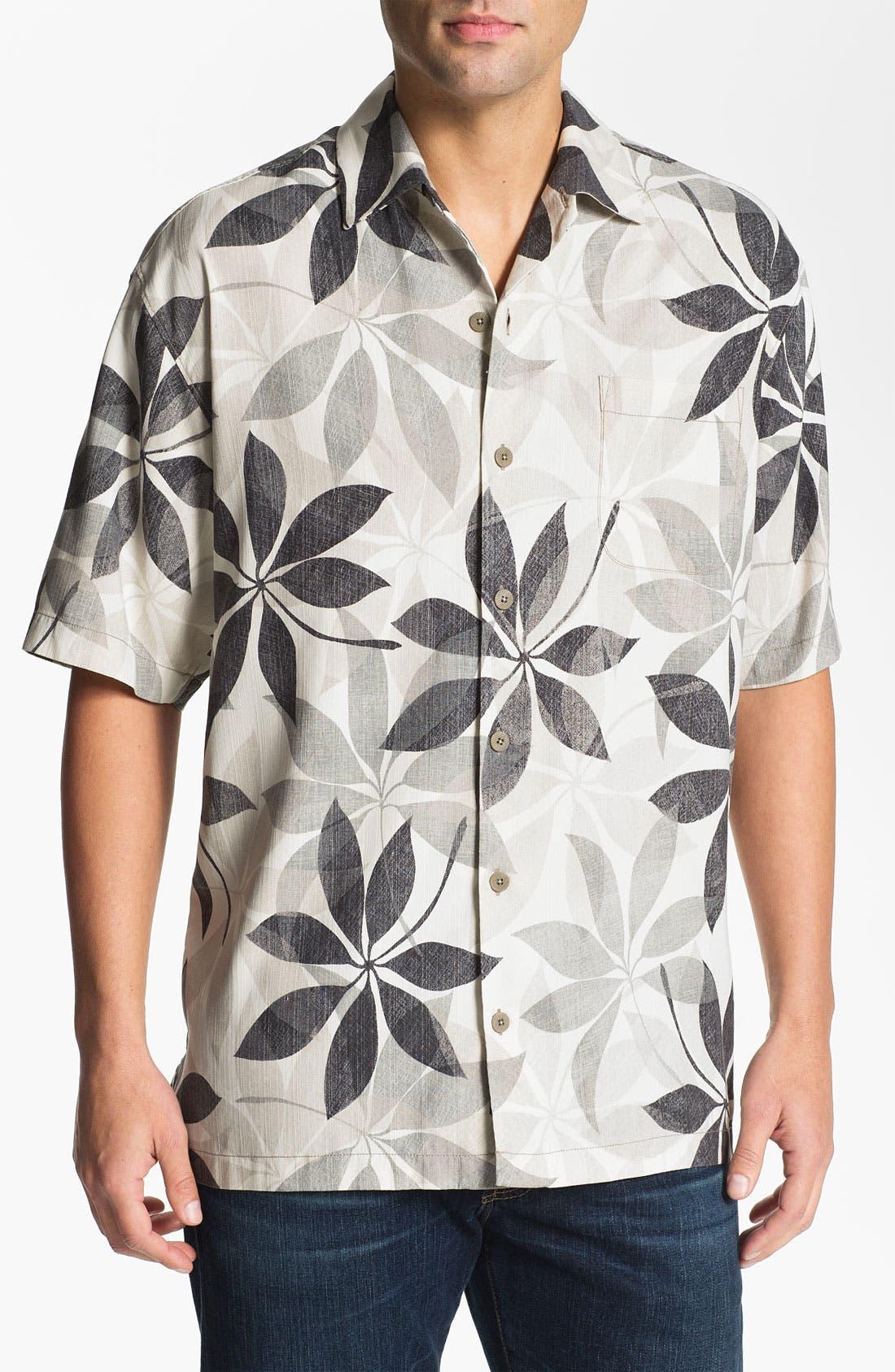 Main Image - Tommy Bahama 'Petal Paradise' Silk Campshirt
