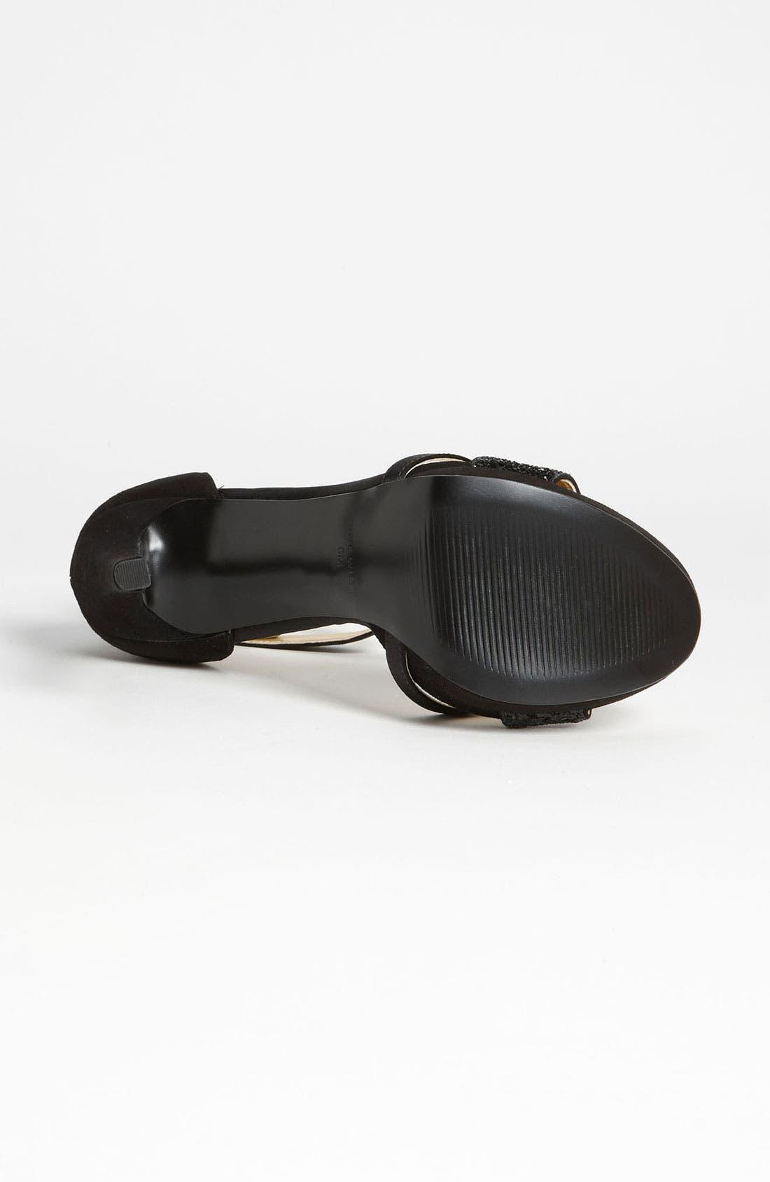 'Firstmet' Sandal,                             Alternate thumbnail 4, color,                             Black Multi