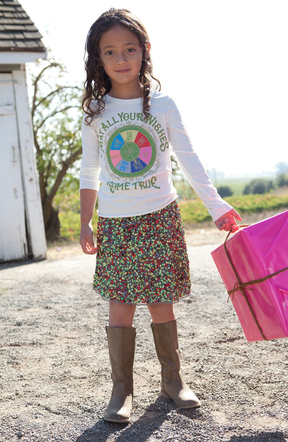 Alternate Image 2  - Peek 'Zoe' Sequin Skirt (Little Girls & Big Girls)