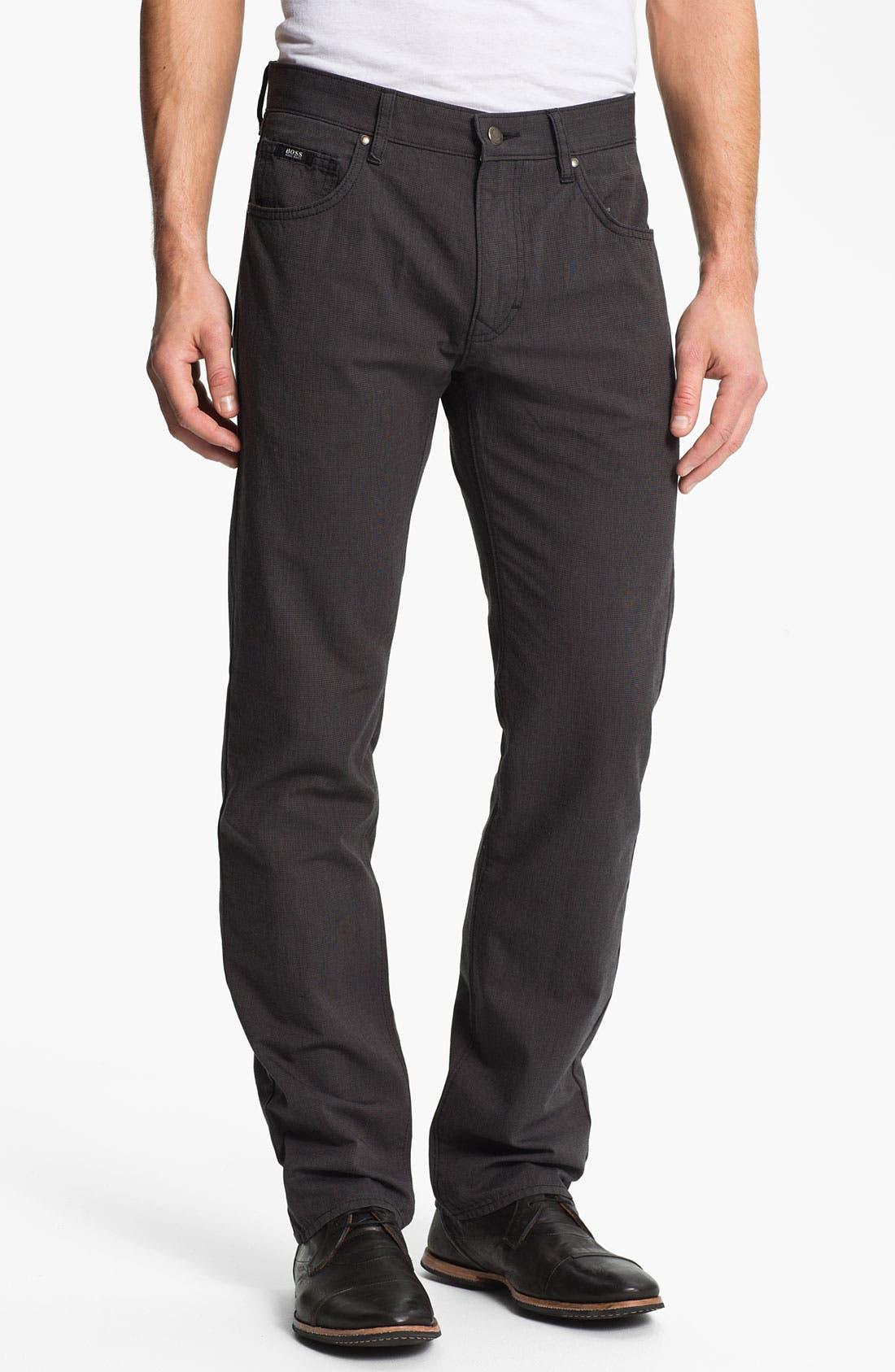 Main Image - BOSS Black 'Kansas' Houndstooth Pants