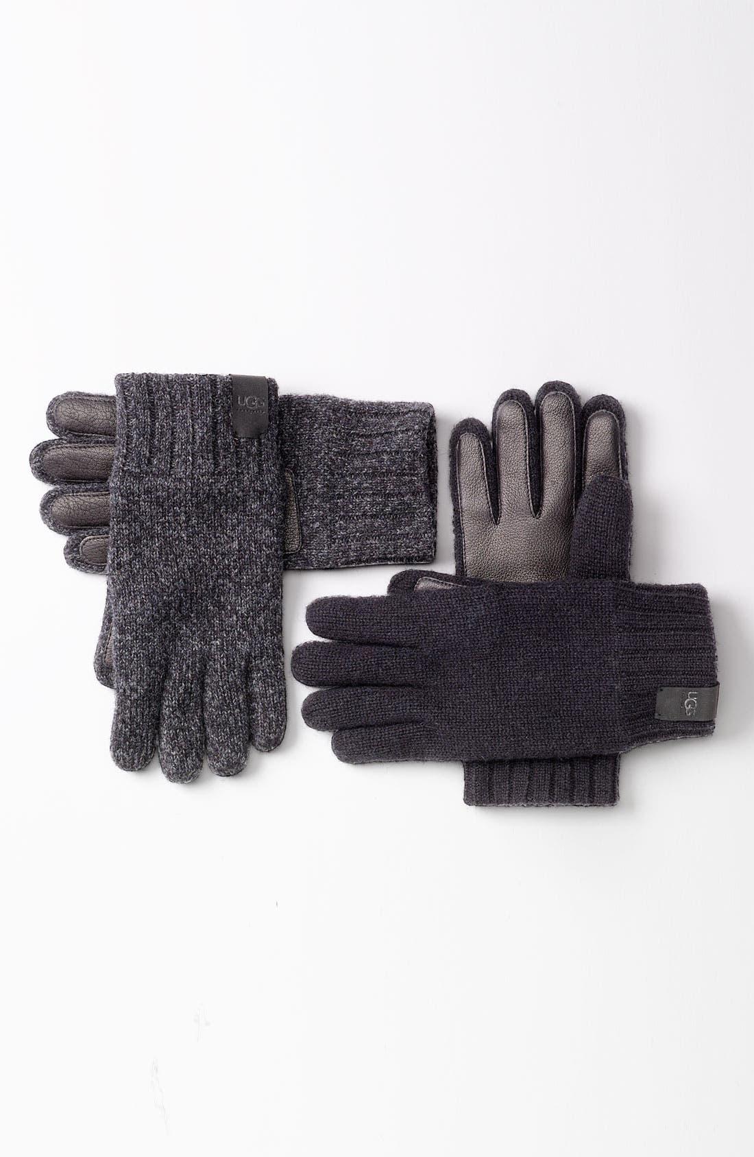 Alternate Image 3  - UGG® Australia Lambswool & Leather Gloves