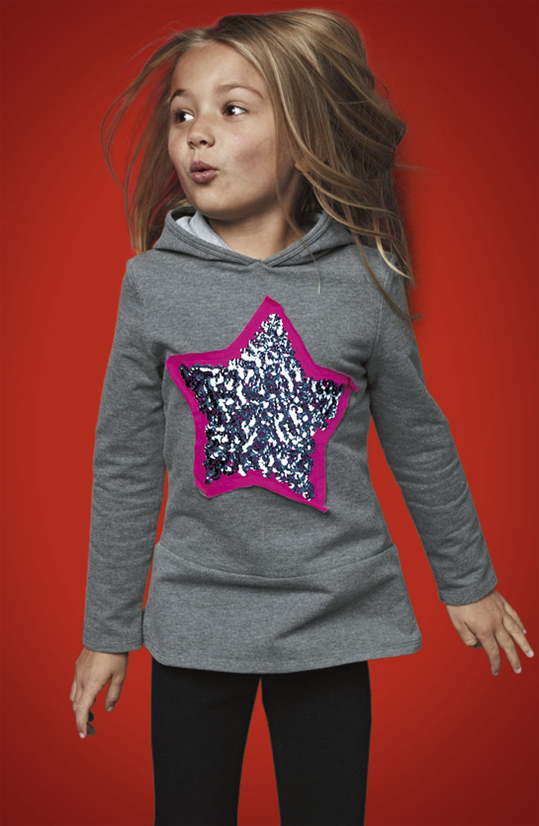 Alternate Image 2  - I Heart Pinc Hooded Tunic (Little Girls)