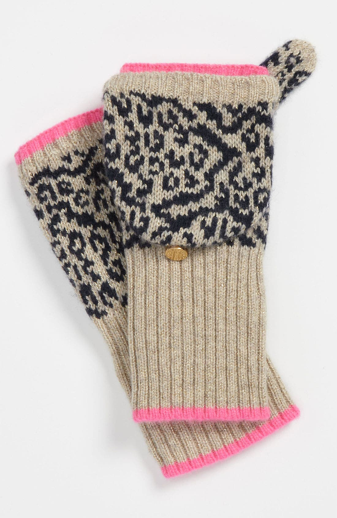 Main Image - Juicy Couture 'Snow Leopard' Convertible Mittens (Little Girls & Big Girls)