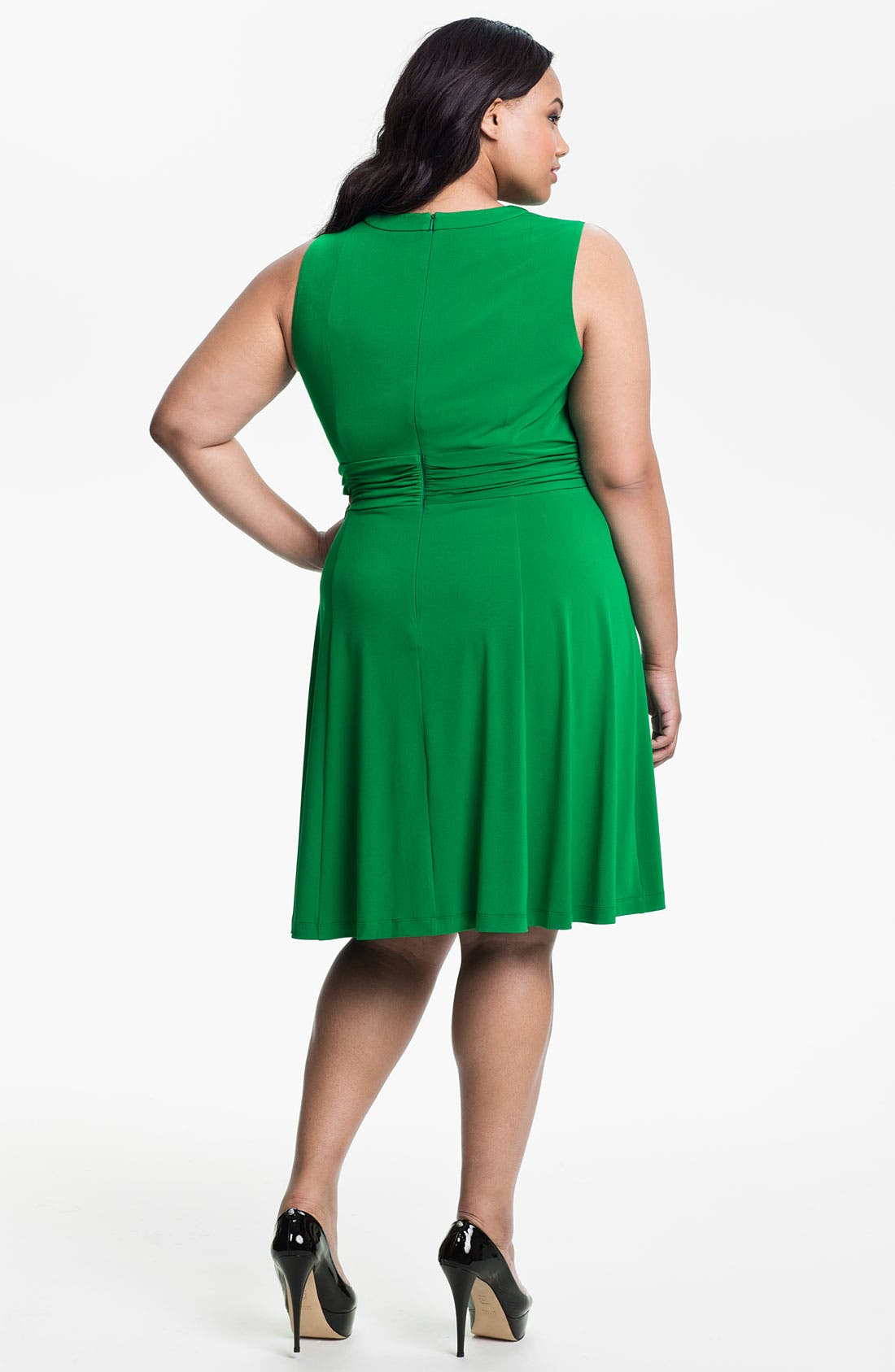 Alternate Image 2  - Donna Ricco Cutout Sleeveless Dress (Plus)