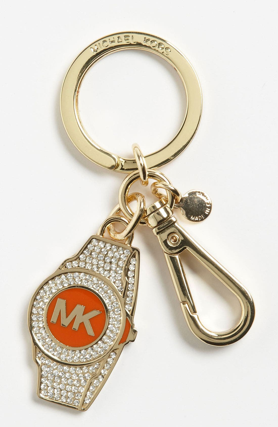 Alternate Image 1 Selected - MICHAEL Michael Kors 'Pavé Watch' Key Ring
