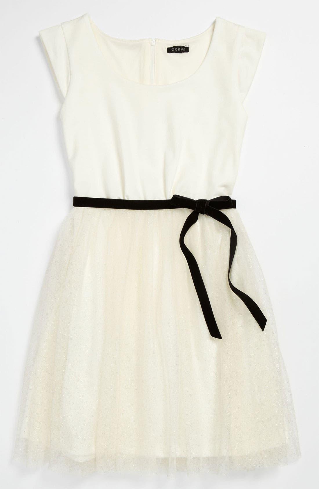Alternate Image 1 Selected - Zunie Tulle Dress (Big Girls)