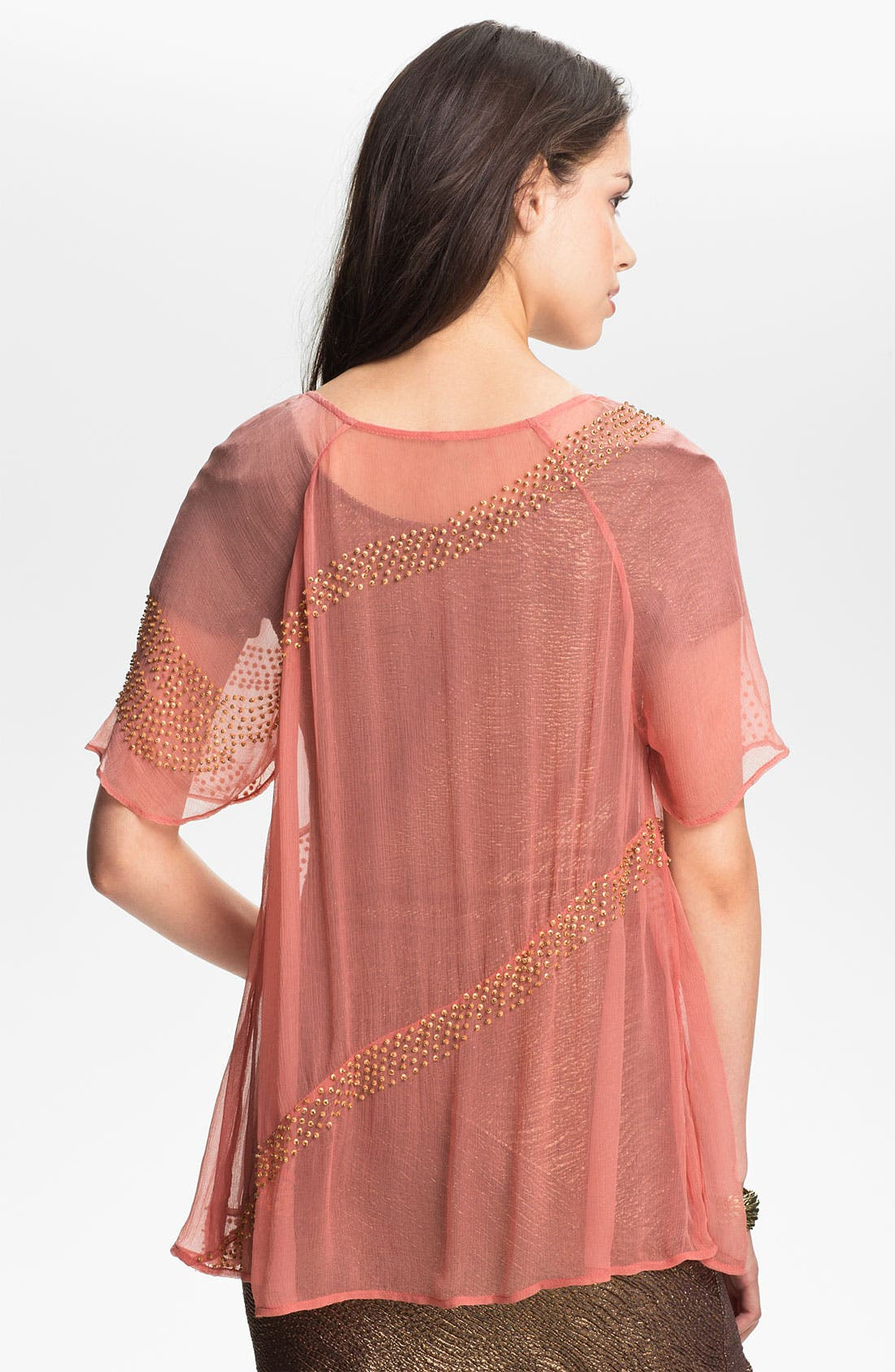 Alternate Image 2  - Free People 'Moon Dance' Embellished Chiffon Top
