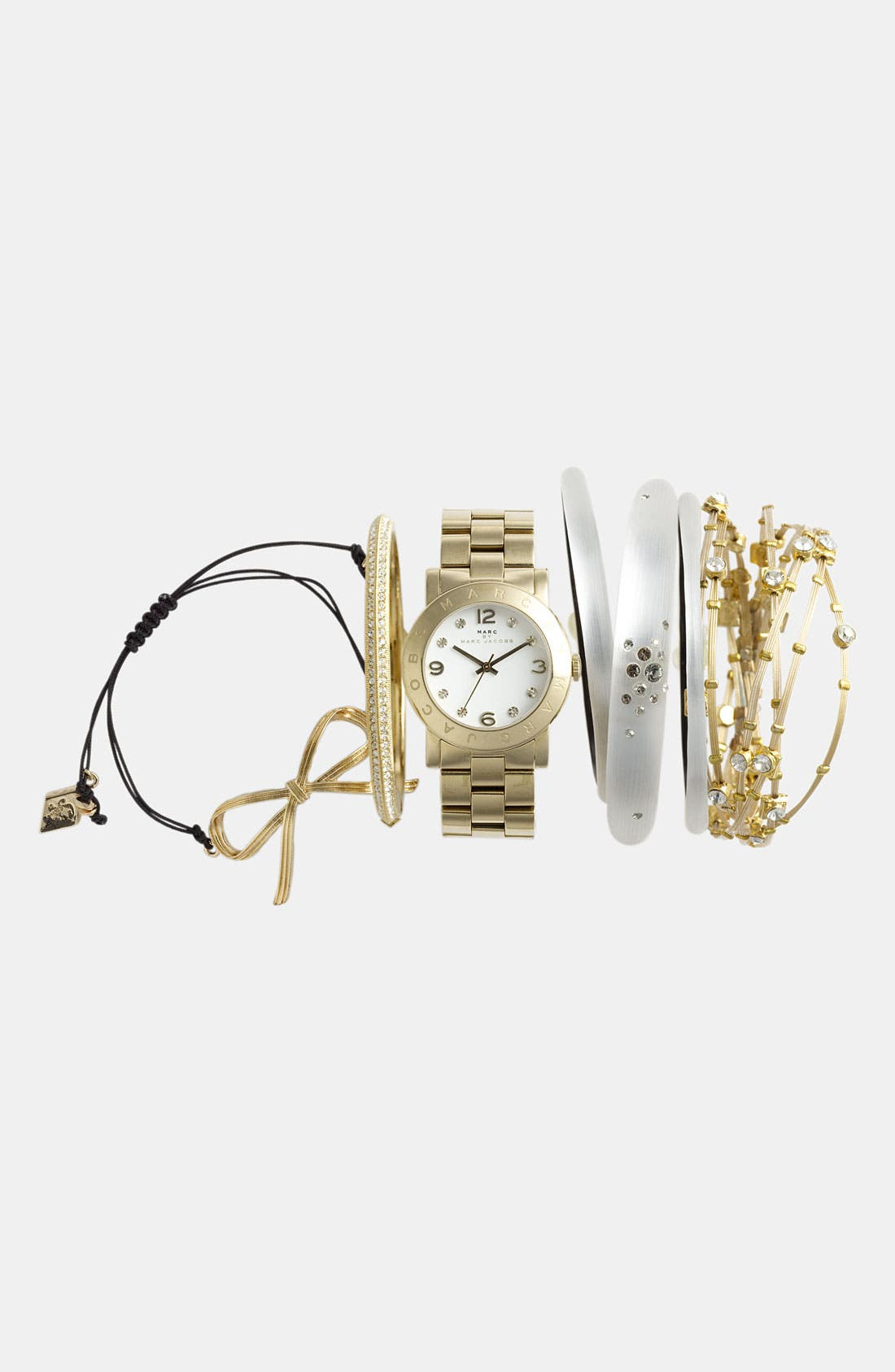 Alternate Image 2  - MARC JACOBS 'Amy' Crystal Bracelet Watch, 36mm