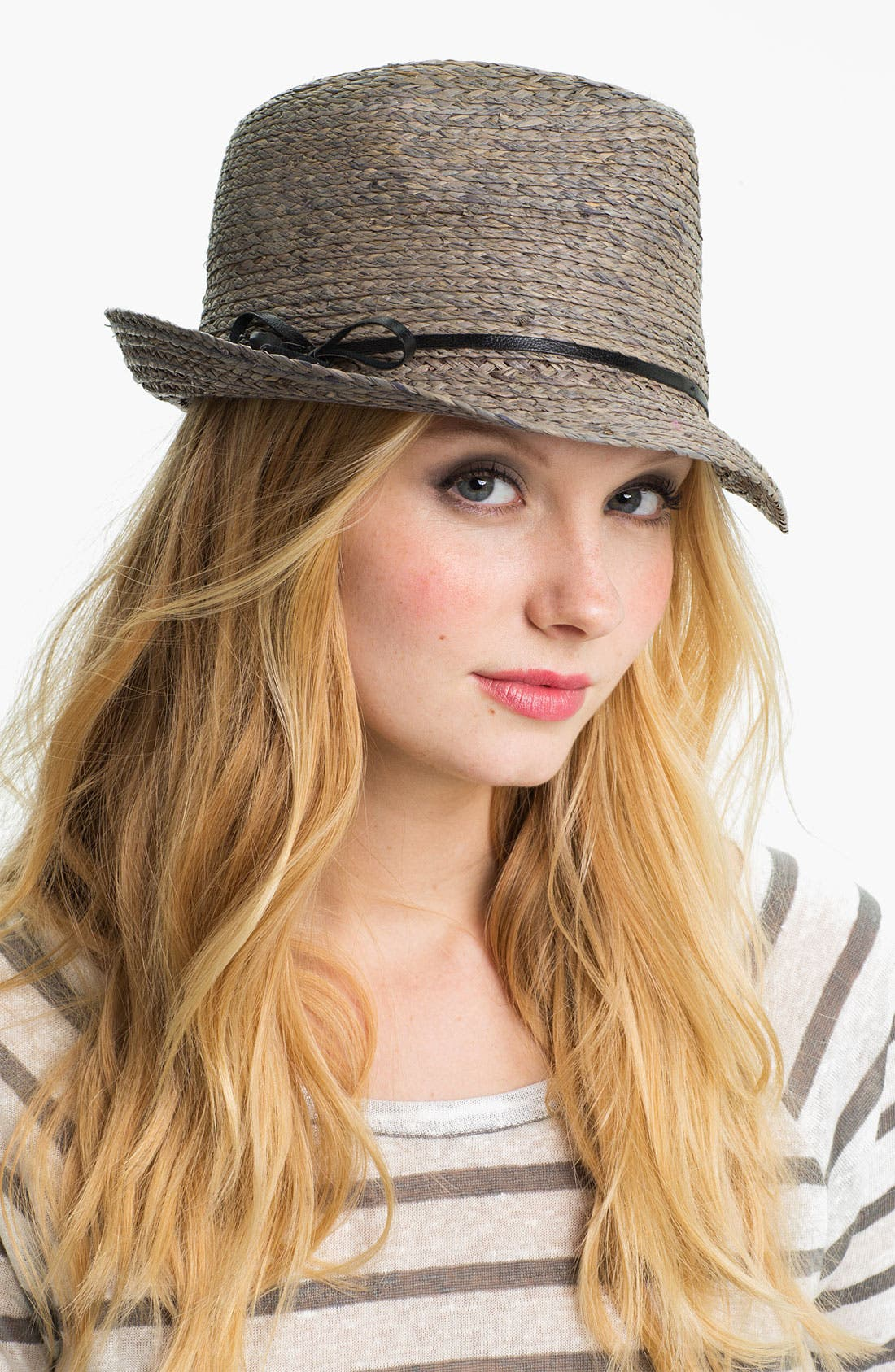 Alternate Image 1 Selected - Flora Bella Raffia Fedora