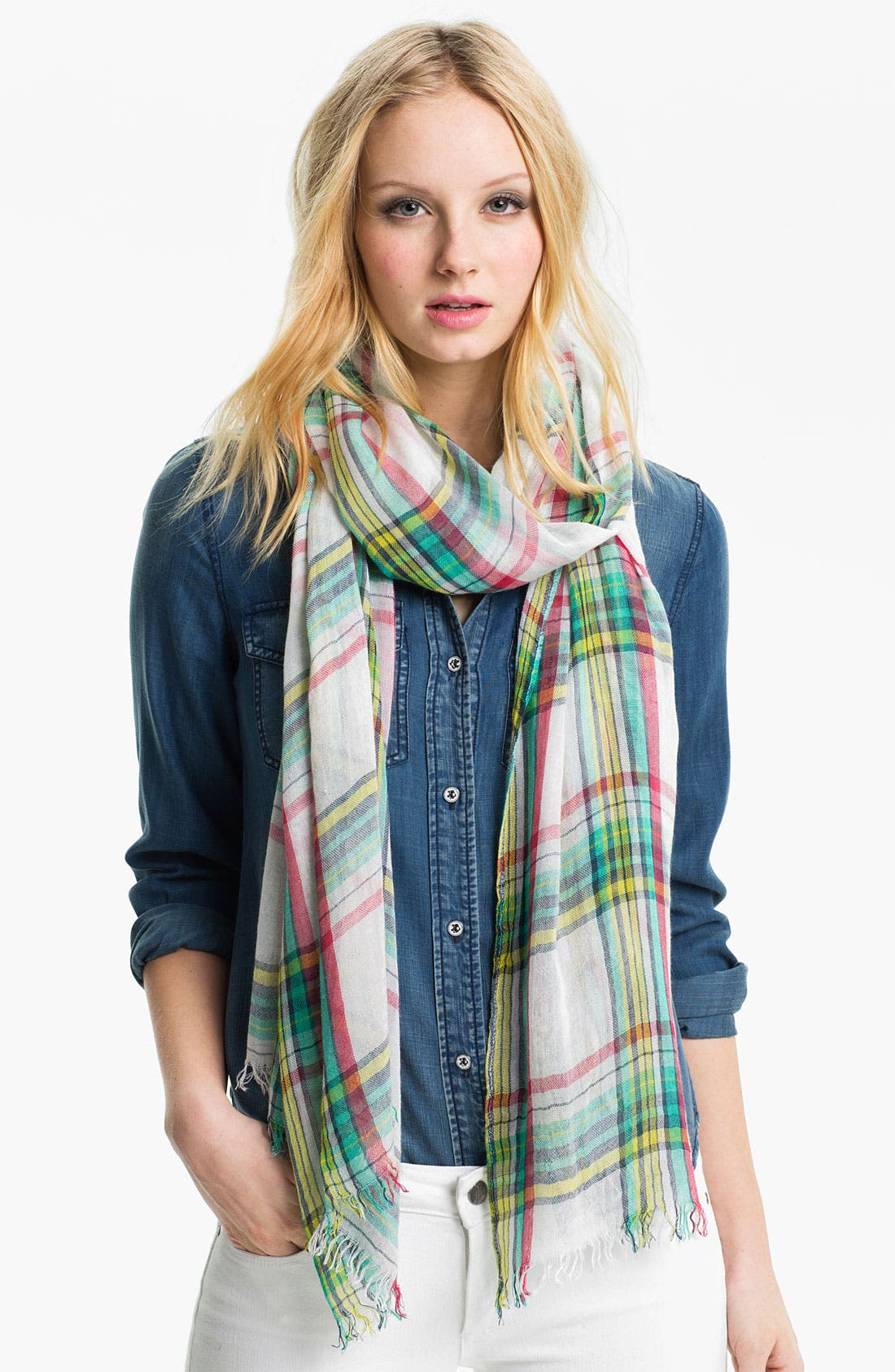 Alternate Image 1 Selected - Lauren Ralph Lauren Plaid Scarf