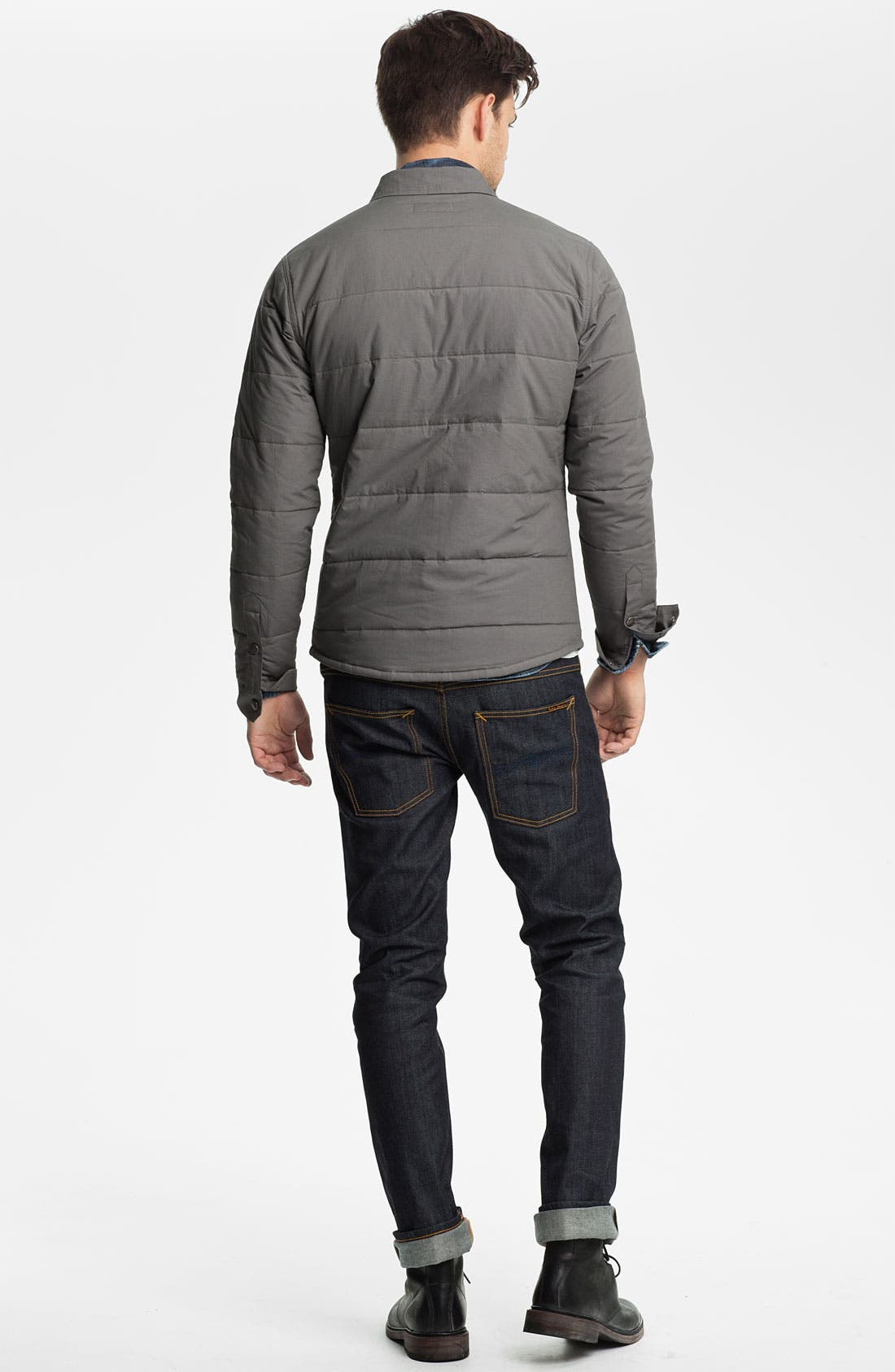 'Cass' Quilted Jacket,                             Alternate thumbnail 5, color,                             Grey