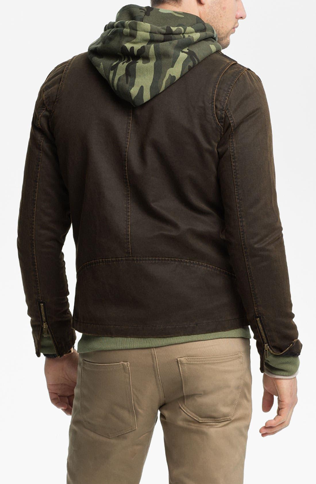 Alternate Image 2  - Obey Coated Moto Jacket