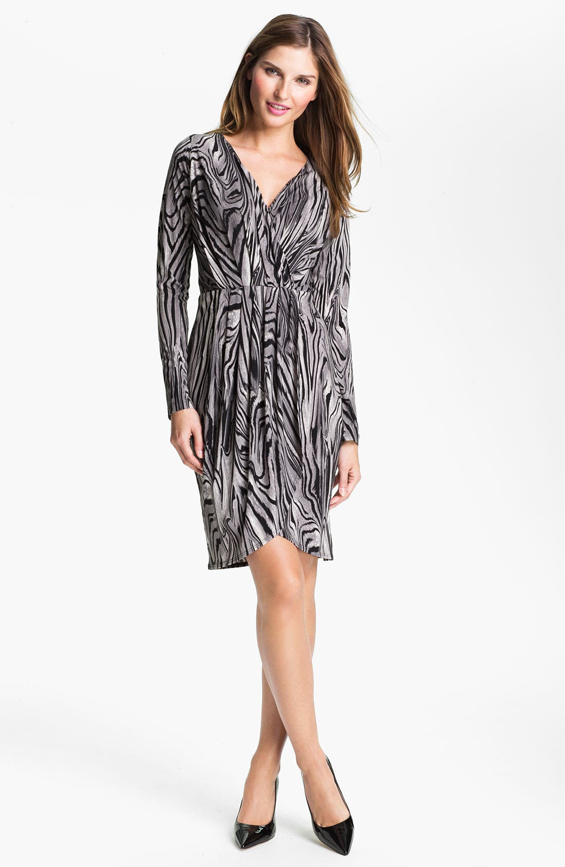 Main Image - Karen Kane Pleated Faux Wrap Dress