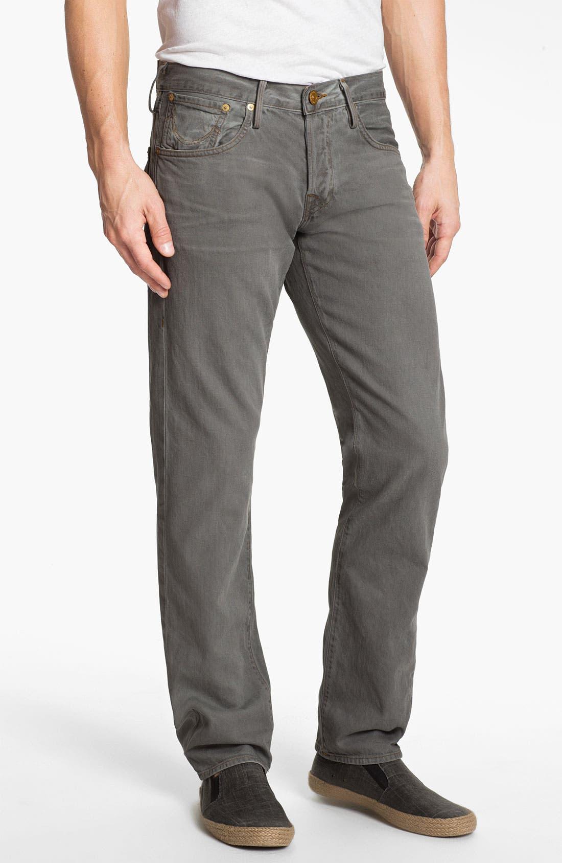 Alternate Image 2  - True Religion Brand Jeans 'Geno Blue Collar Crossroads' Slim Straight Leg Jeans (Smoke Stack)