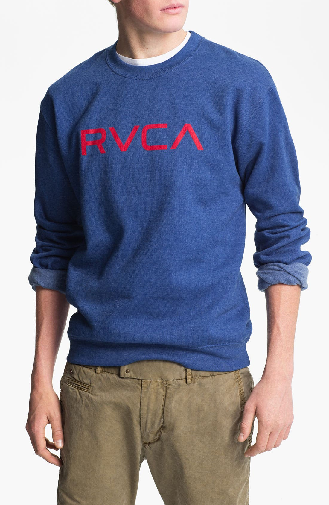 Alternate Image 1 Selected - RVCA Crewneck Sweatshirt