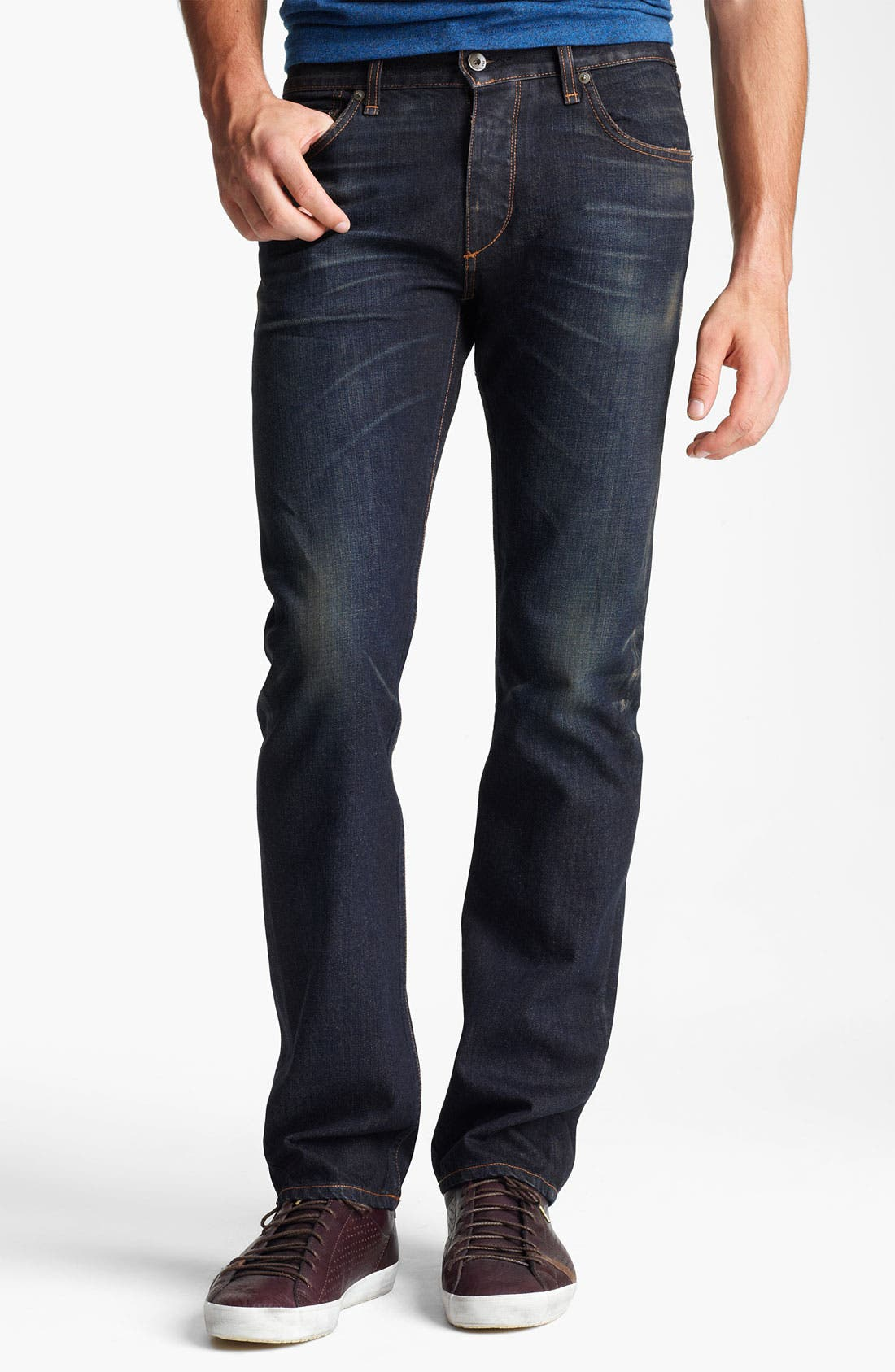 Alternate Image 1 Selected - rag & bone 'RB19X' Slim Straight Leg Jeans (Charing Blue)