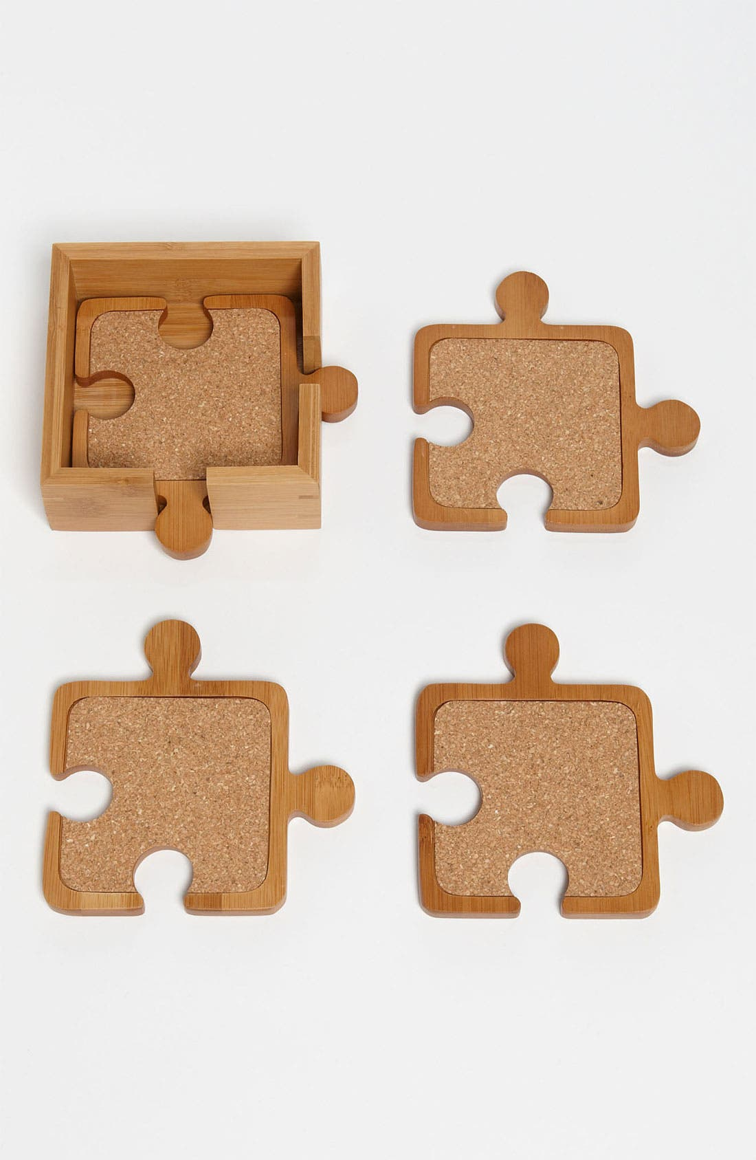 Alternate Image 1 Selected - Totally Bamboo Puzzle Coasters (Set of 4)
