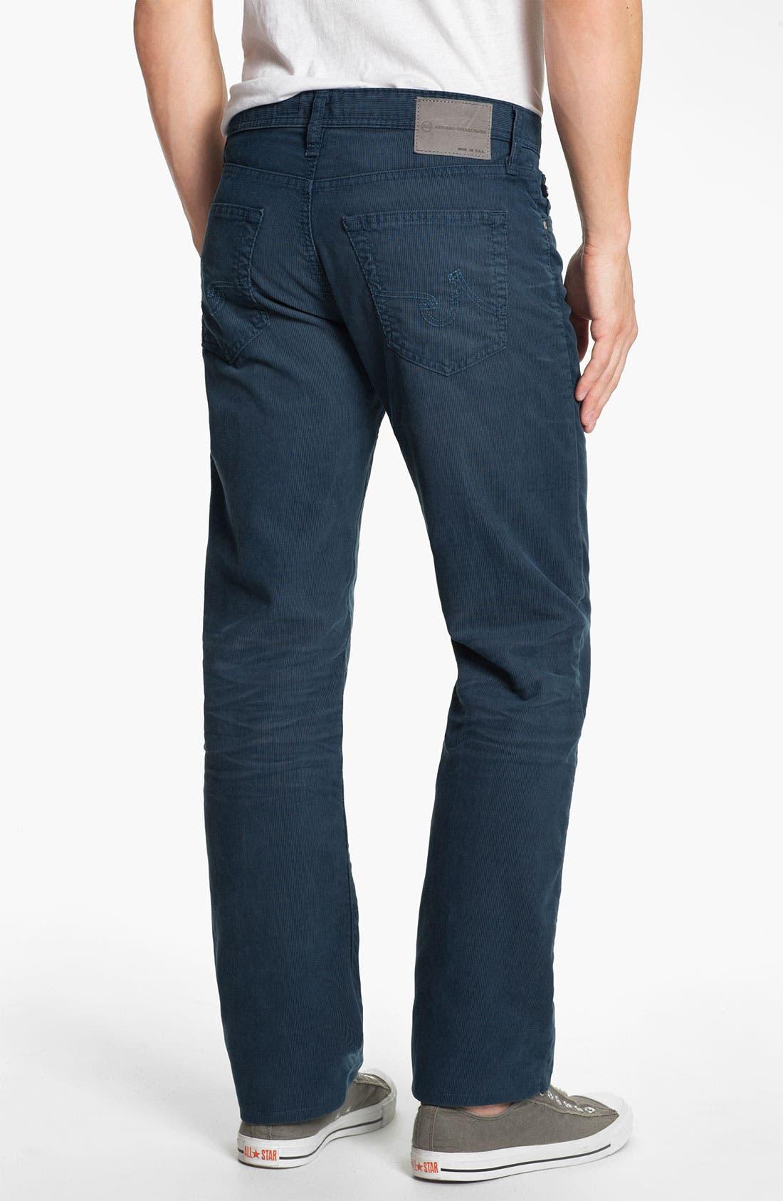 Alternate Image 2  - AG Jeans Straight Leg Corduroy Pants