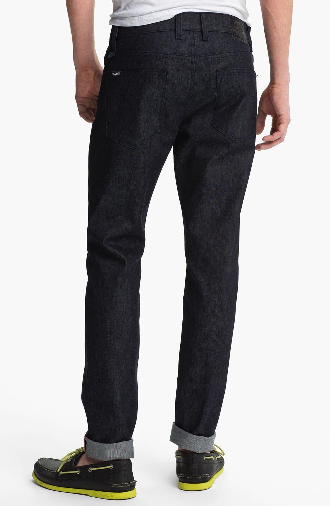 Alternate Image 1 Selected - Kill City 'Wire' Slim Skinny Leg Jeans (Indigo)