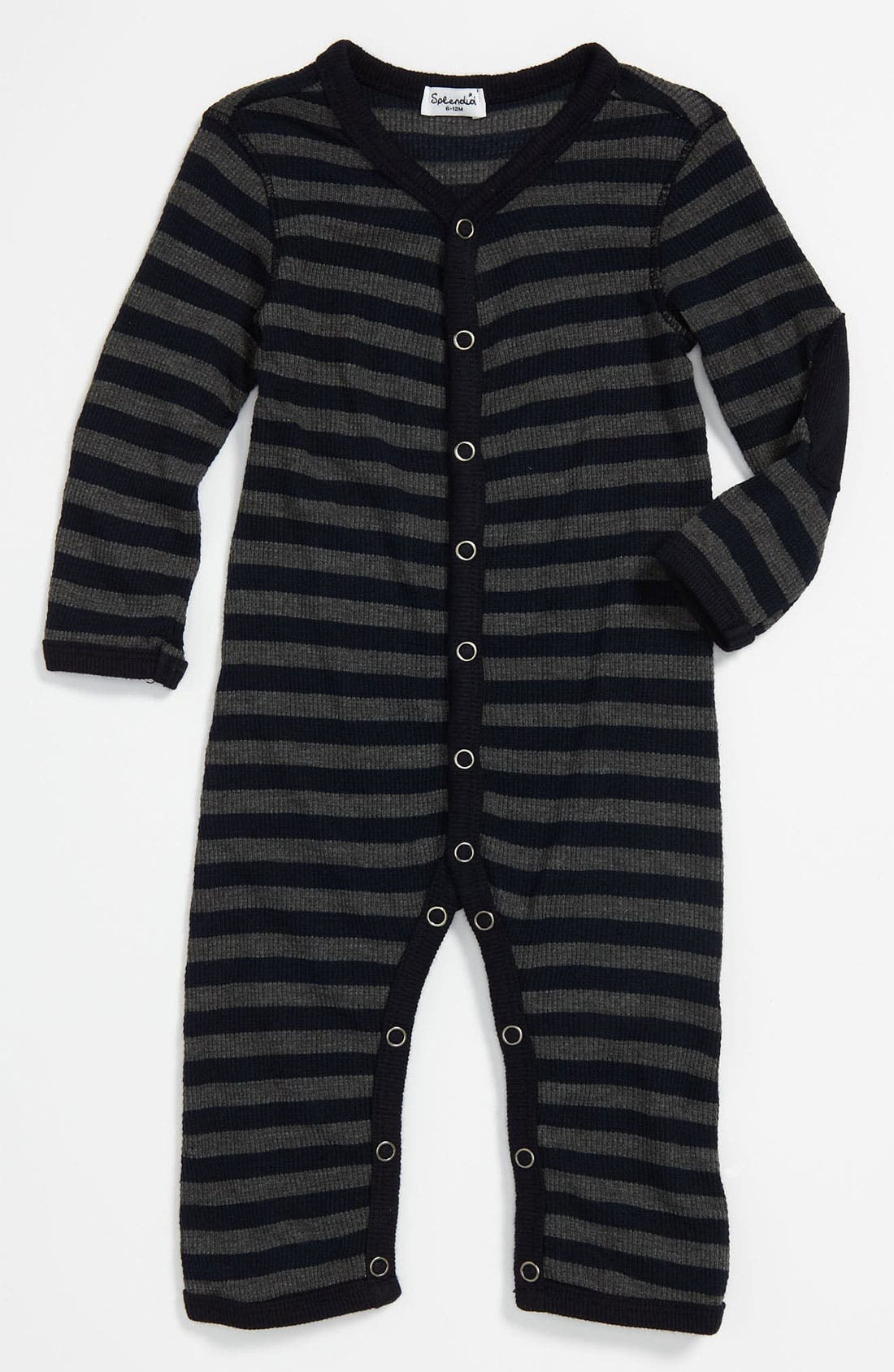 Alternate Image 1 Selected - Splendid Stripe Thermal Knit Romper (Infant)