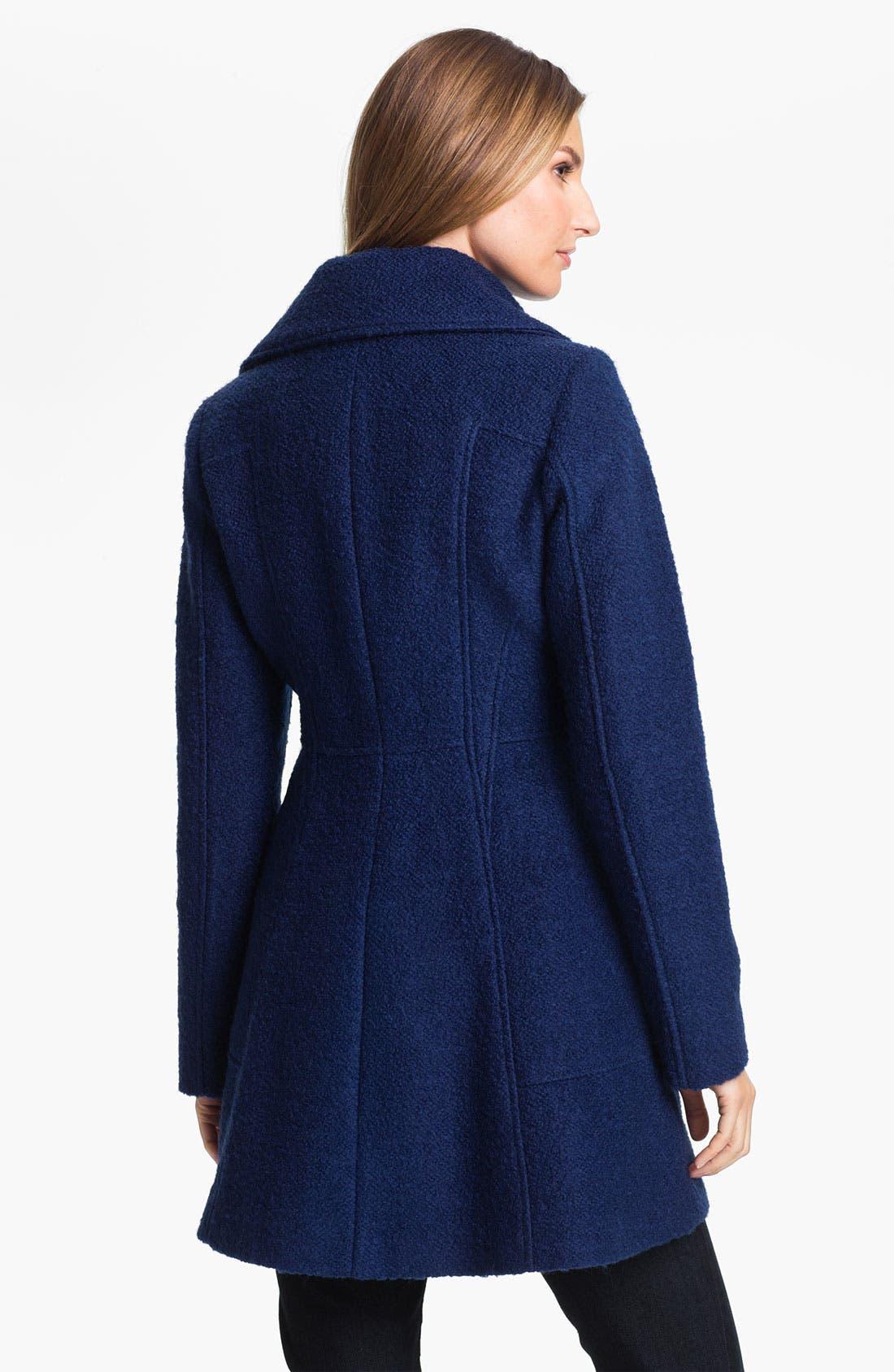 Alternate Image 2  - GUESS Bouclé Walking Coat (Petite) (Online Exclusive)