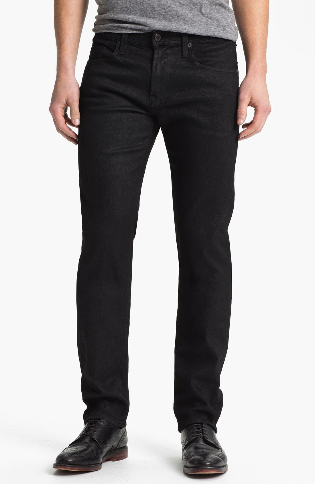 Alternate Image 1 Selected - AG Jeans 'Matchbox Slim' Straight Leg Jeans (Coal)