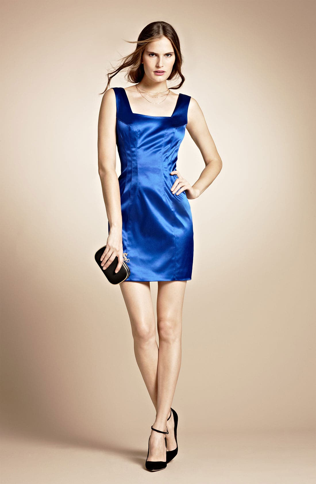Alternate Image 4  - Jay Godfrey 'Stone' Stretch Satin Minidress (Nordstrom Exclusive)