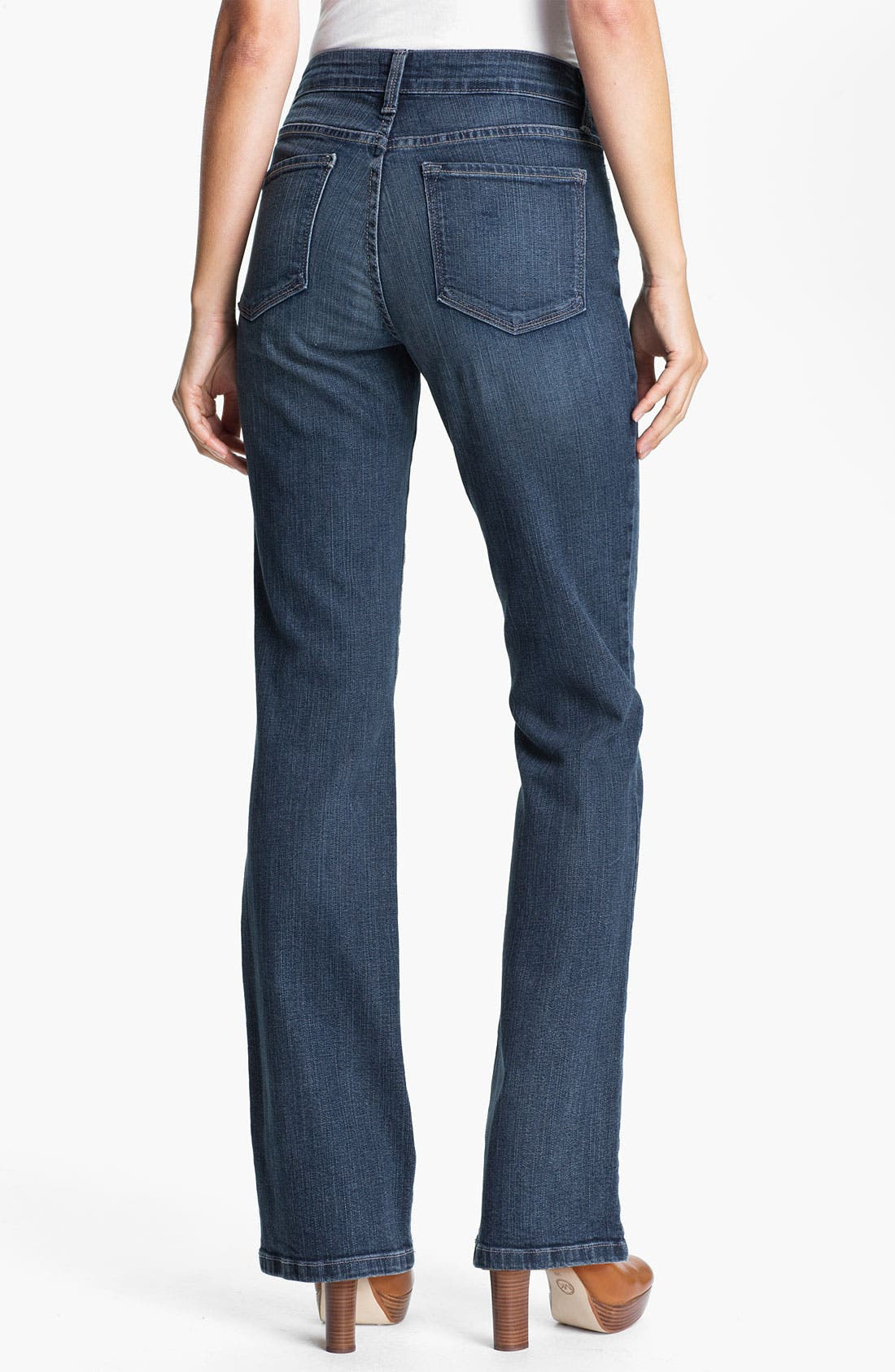Alternate Image 2  - NYDJ 'Barbara' Stitch Pocket Bootcut Jeans (Petite)