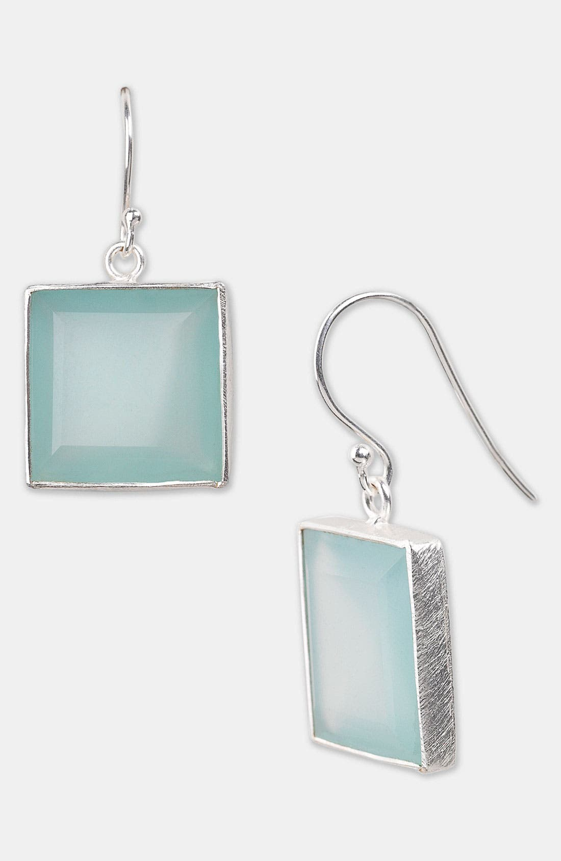 'Bauble Bar' Drop Earrings,                             Main thumbnail 1, color,                             Silver/ Chalcedony