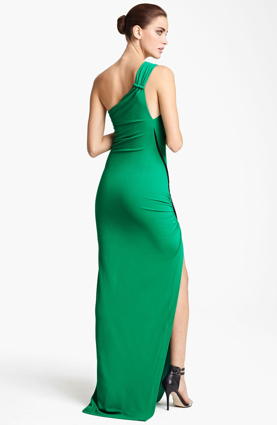 Alternate Image 2  - Yigal Azrouël One Shoulder Matte Crepe Jersey Gown