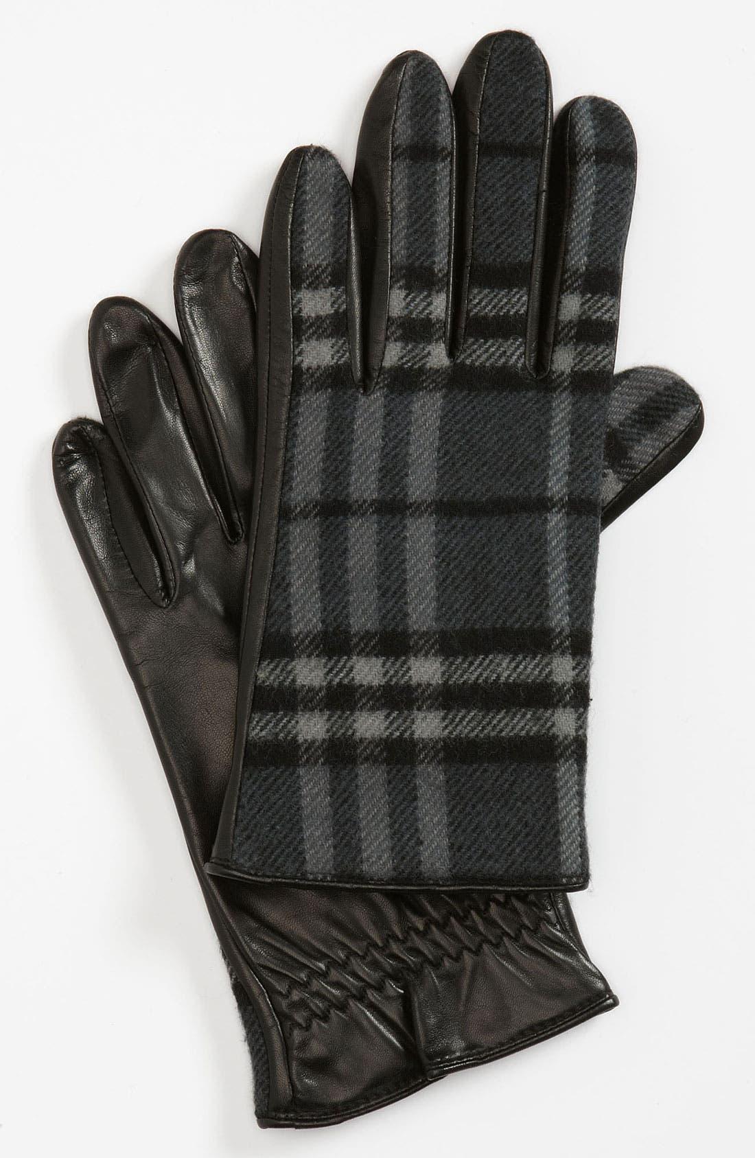 Alternate Image 1 Selected - Burberry 'Luca' Check Gloves