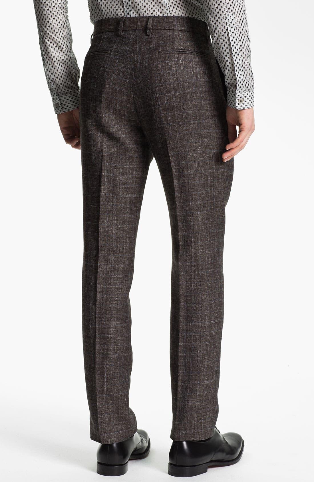 Alternate Image 2  - Burberry Prorsum Slim Fit Plaid Twill Trousers