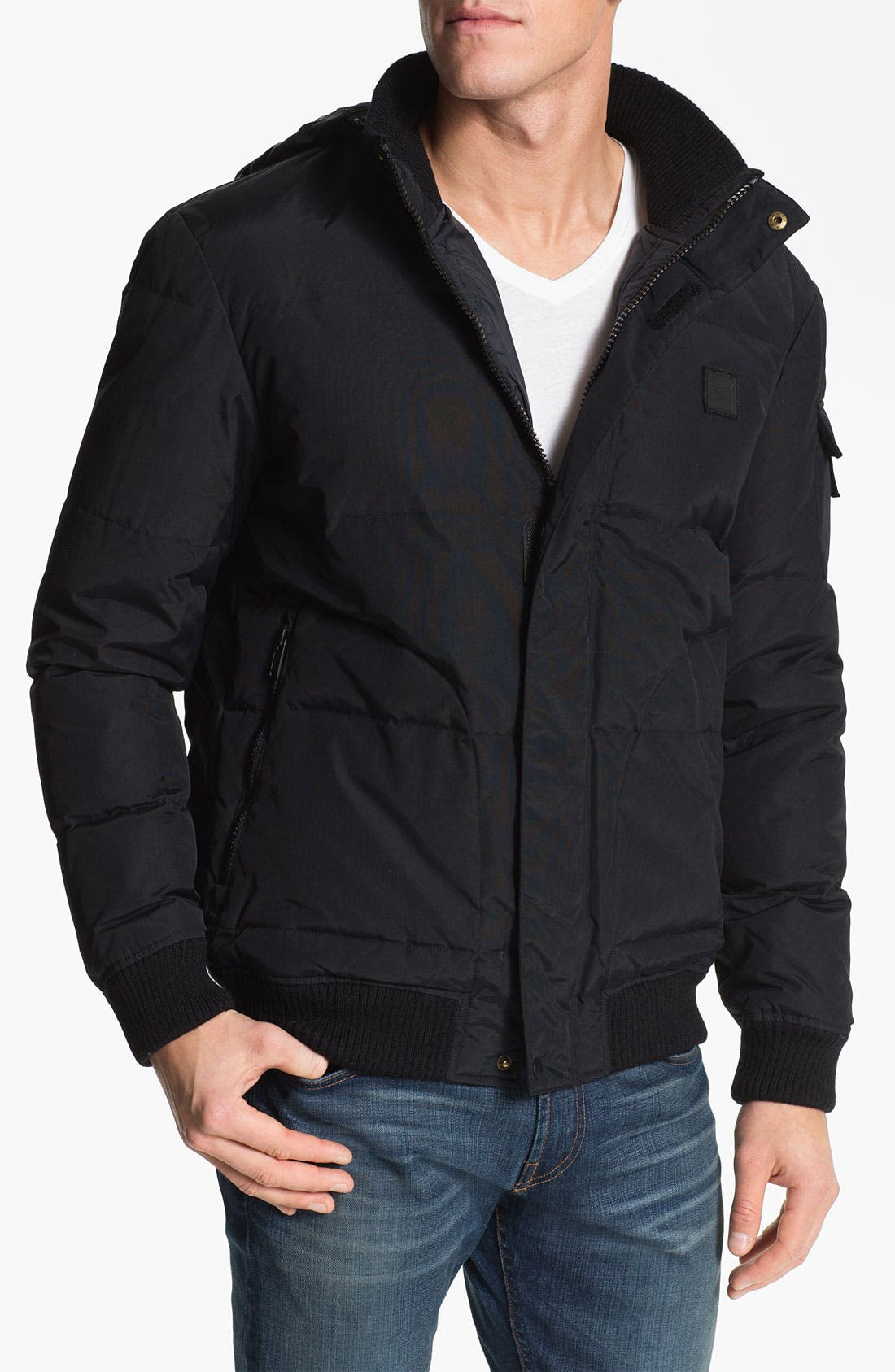 Alternate Image 1 Selected - Lacoste Quilted Bomber Jacket