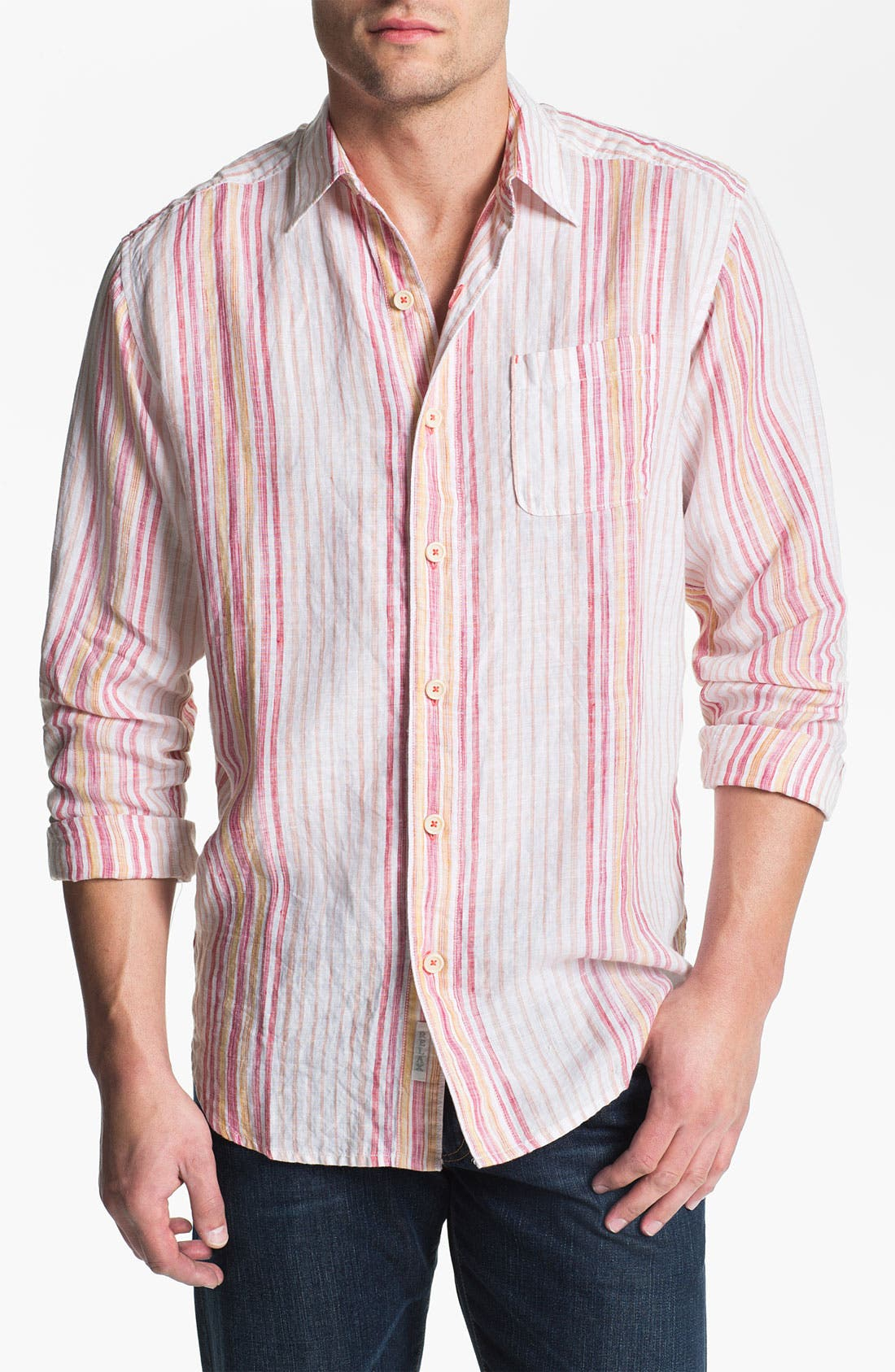 Main Image - Tommy Bahama 'Coconut Lanes' Linen Sport Shirt (Big & Tall)