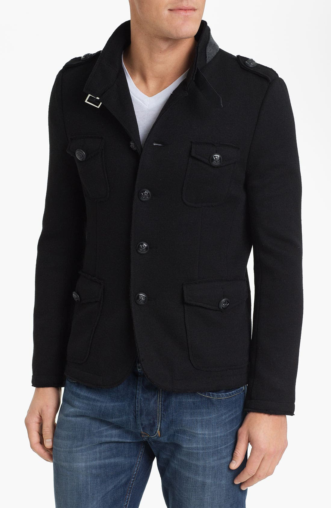 Main Image - Paul Black Knit Field Jacket