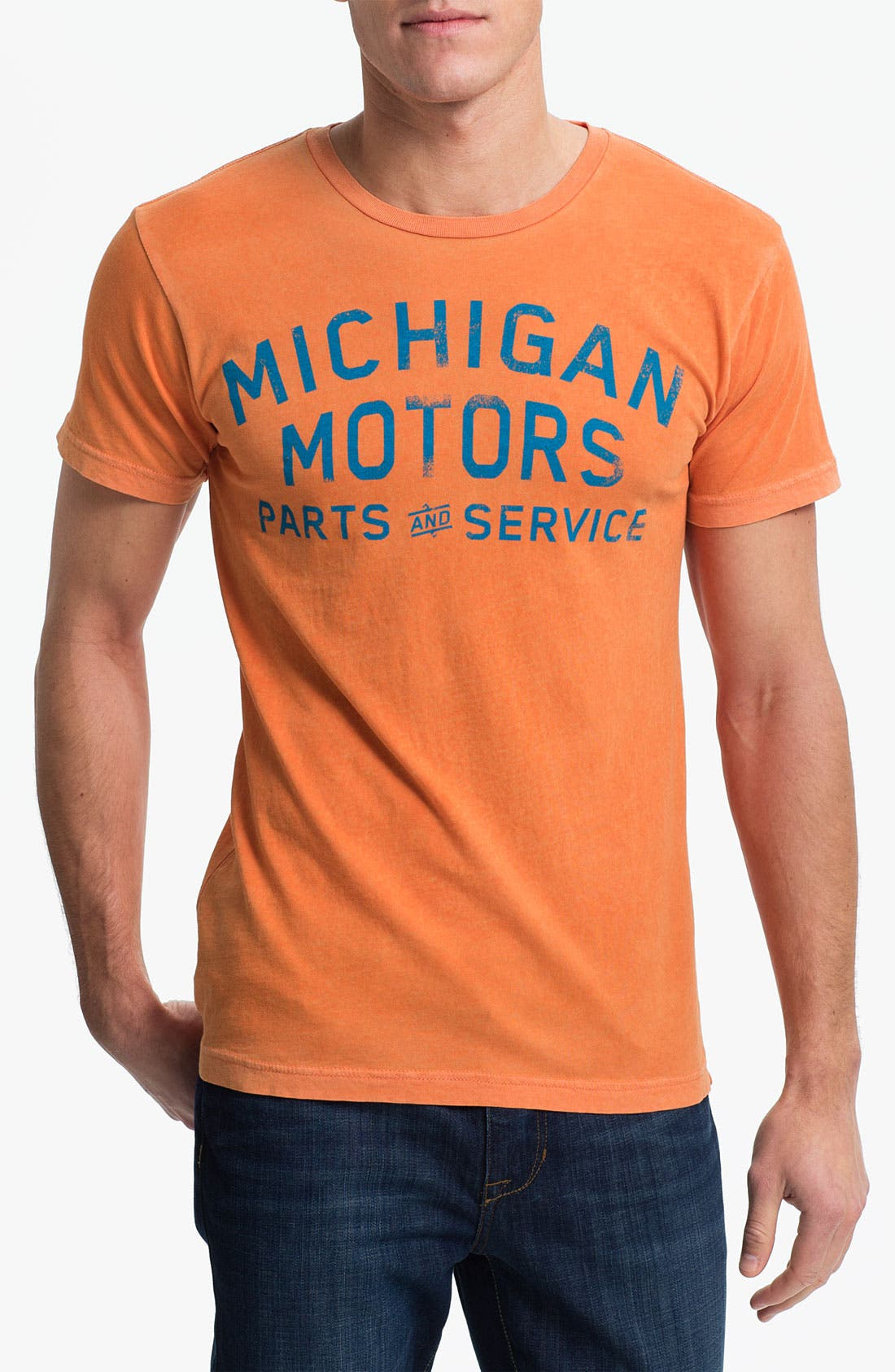 Main Image - Denim & Leathers by Andrew Marc 'Michigan Motors' Graphic T-Shirt