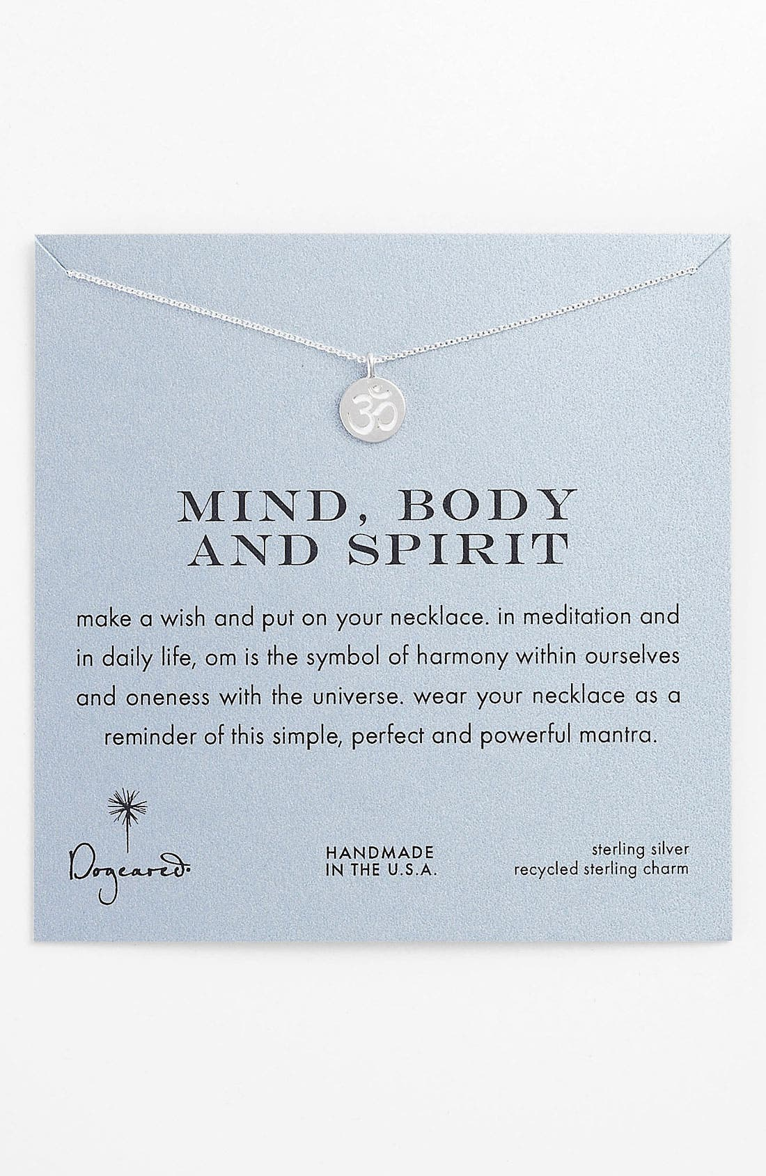 Main Image - Dogeared 'Mind, Body & Spirit' Om Pendant Necklace