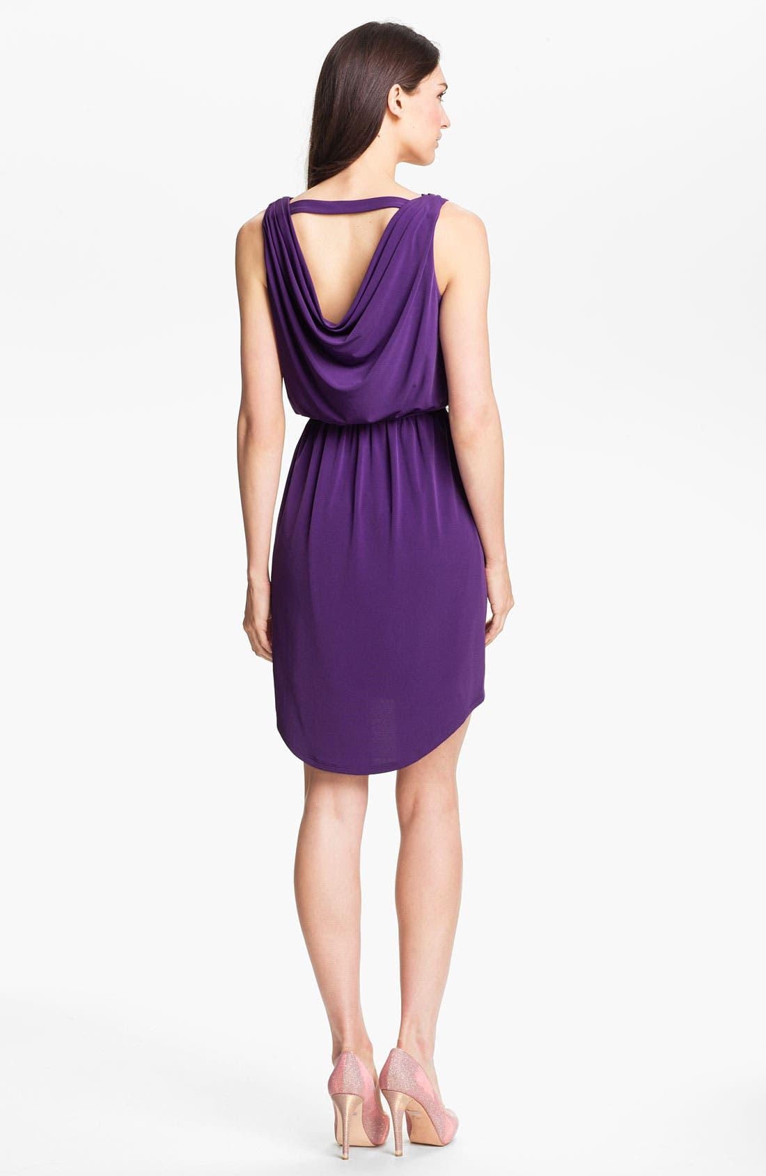 Alternate Image 2  - Jessica Simpson Cowl Neck High/Low Blouson Dress