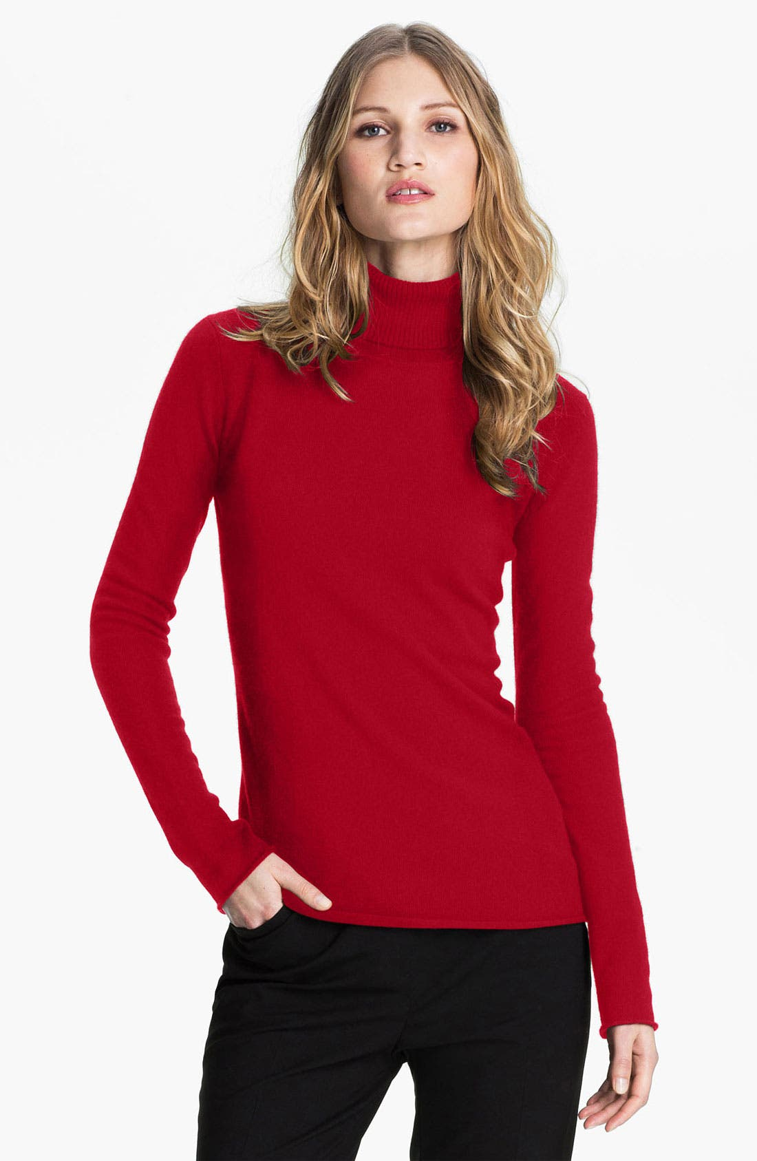 Main Image - Pure Amici Cashmere Turtleneck Sweater