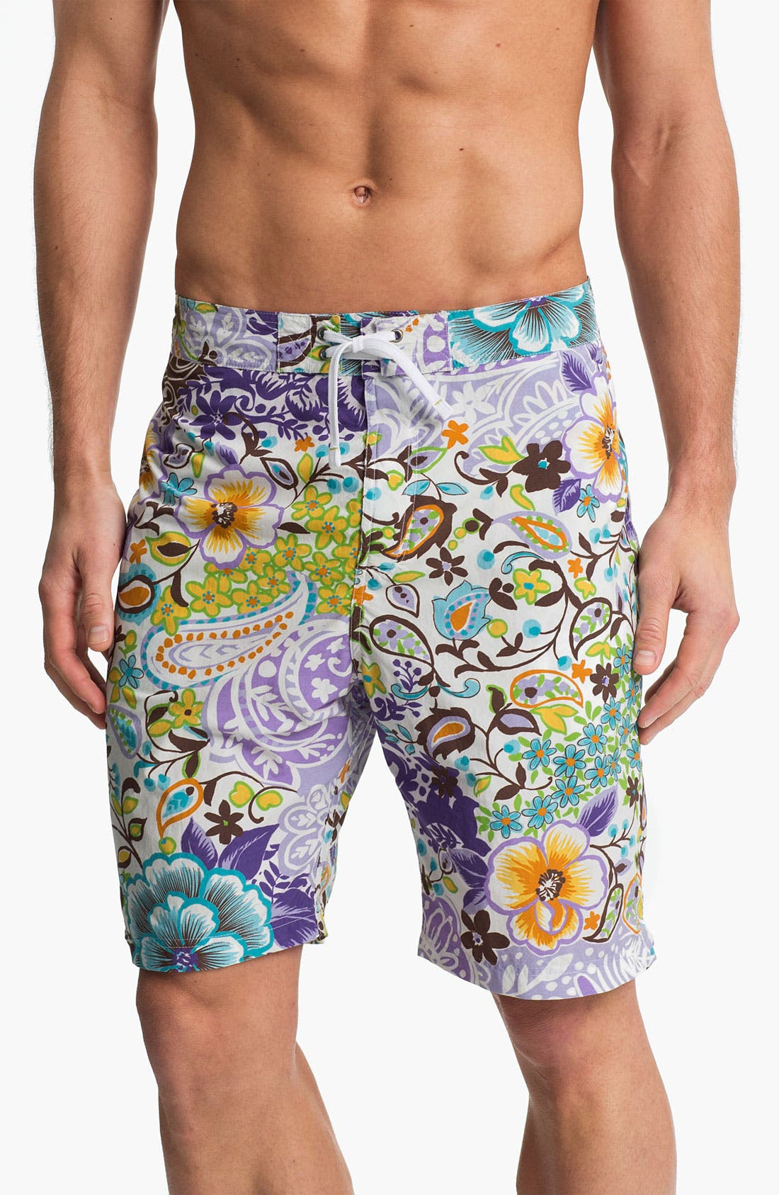 Alternate Image 1 Selected - Maker & Company 'Full Monte' Swim Shorts (Online Only)